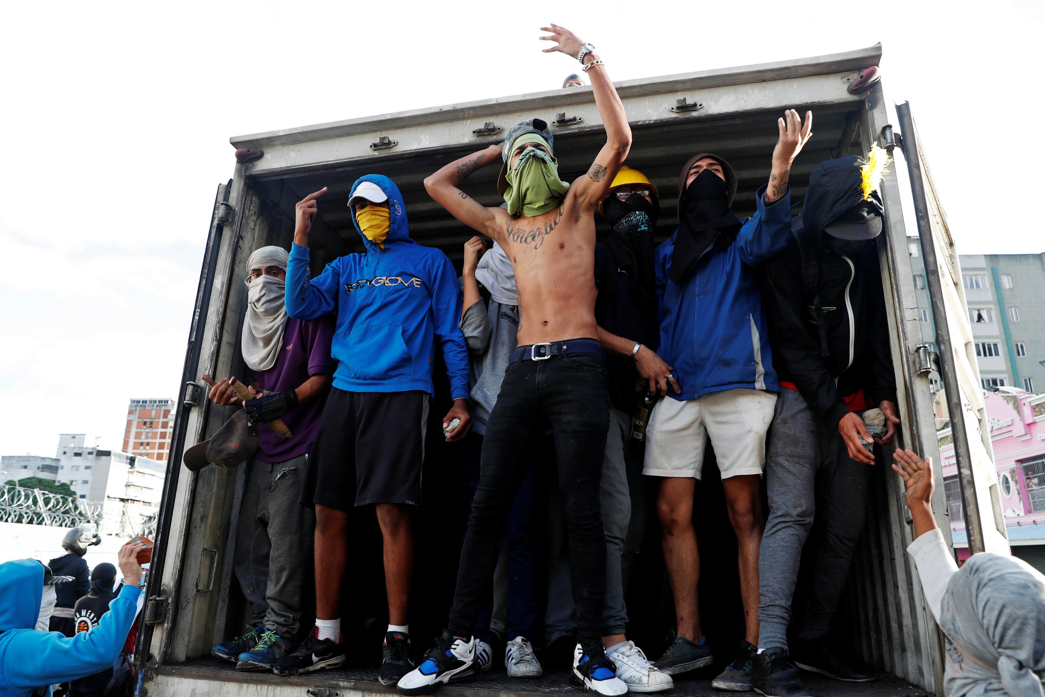 Protestas en Caracas. REUTERS/Carlos Garcia Rawlins