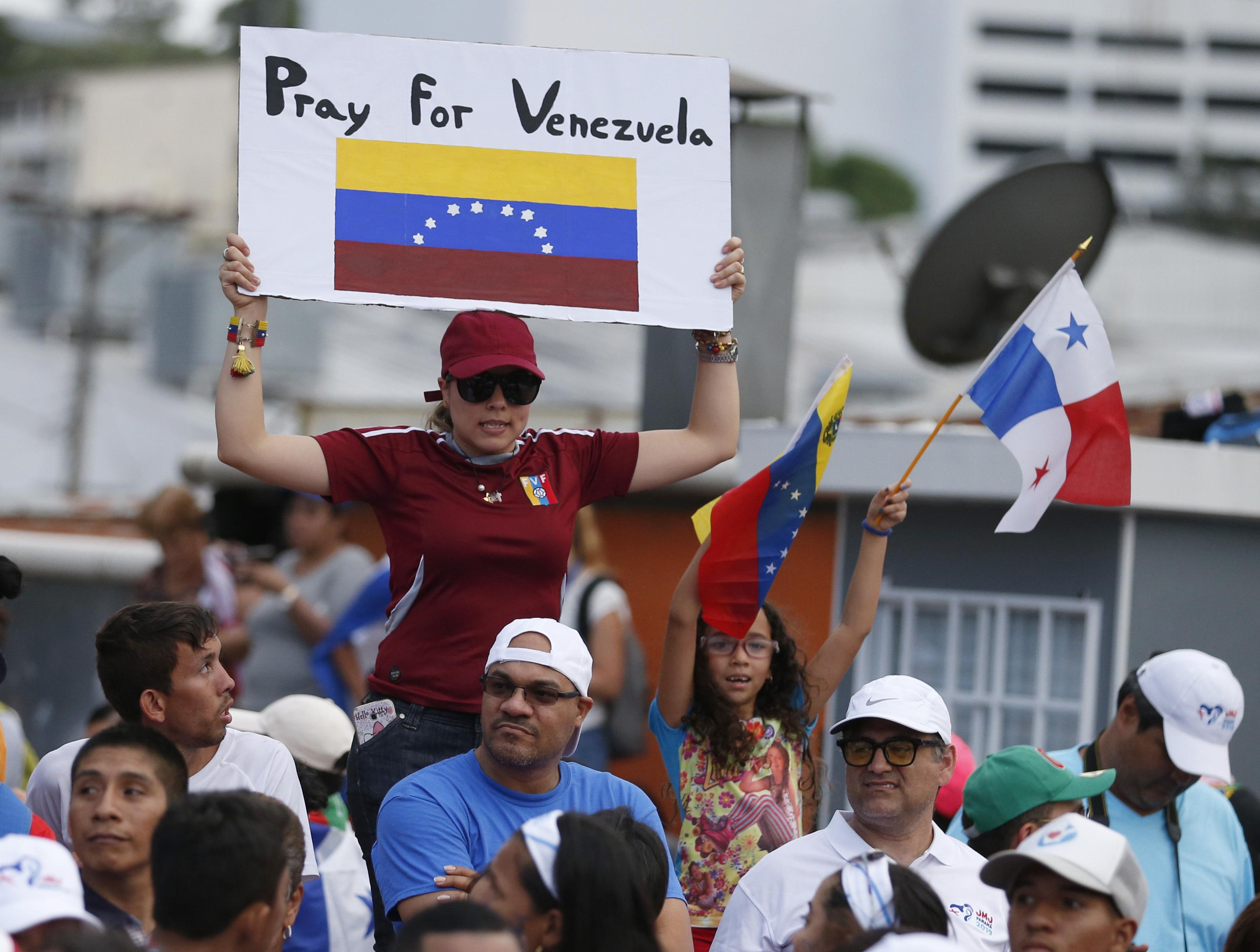 Protetas en Ciudad de Panamá. (AP Foto/Rebecca Blackwell)