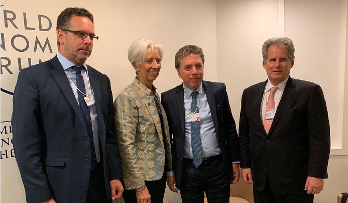 En Davos, Lagarde reiteró el apoyo del FMI al plan de reforma económica de la Argentina