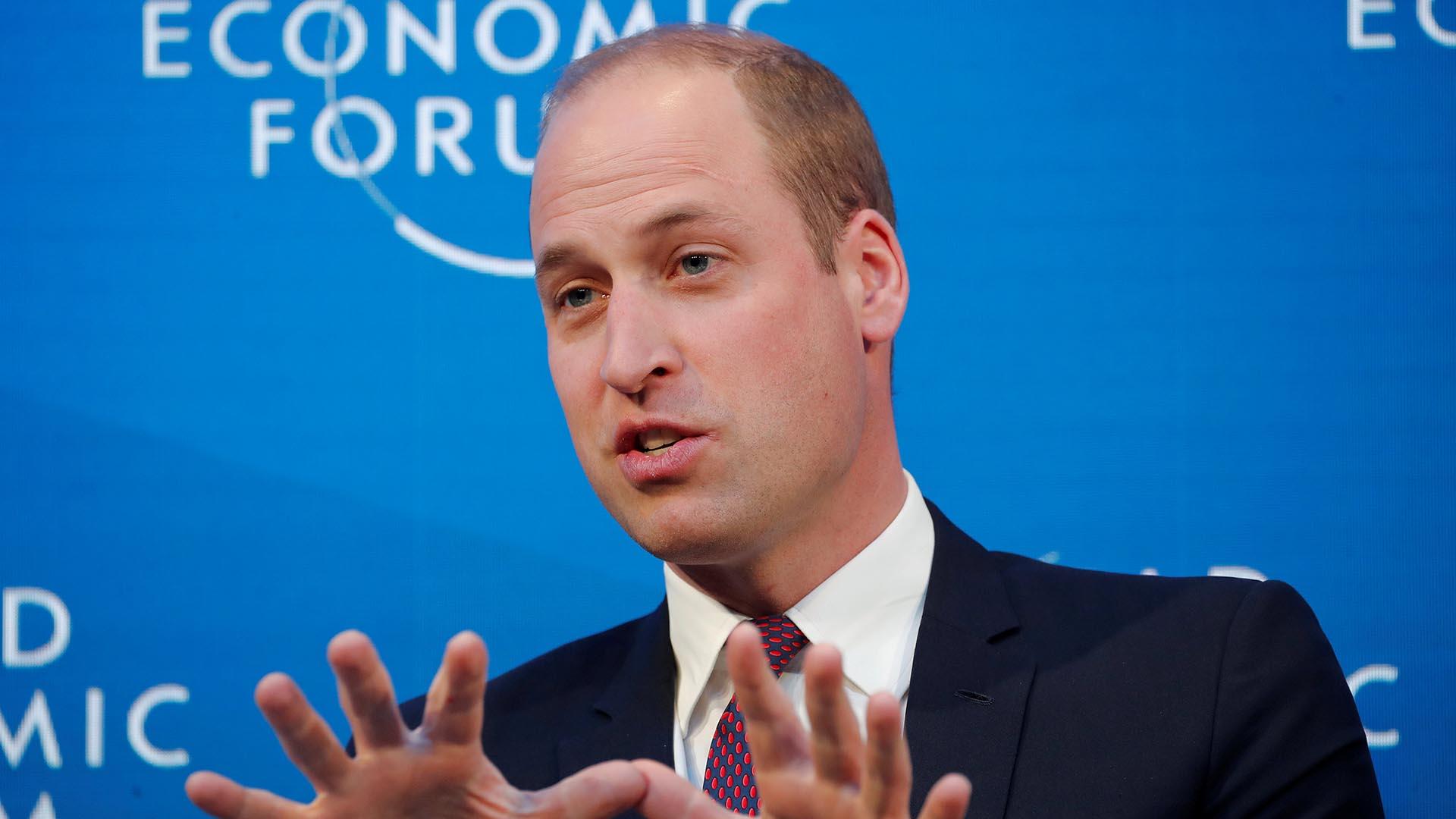 El príncipe William participó del Foro Económico Mundial en Davos, Suiza (WEF) (REUTERS/Arnd Wiegmann)