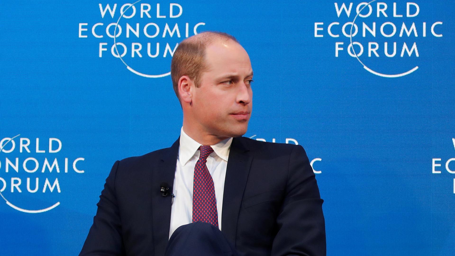 El príncipe William habló sobre su salud mental en el Foro de Davos (REUTERS/Arnd Wiegmann)