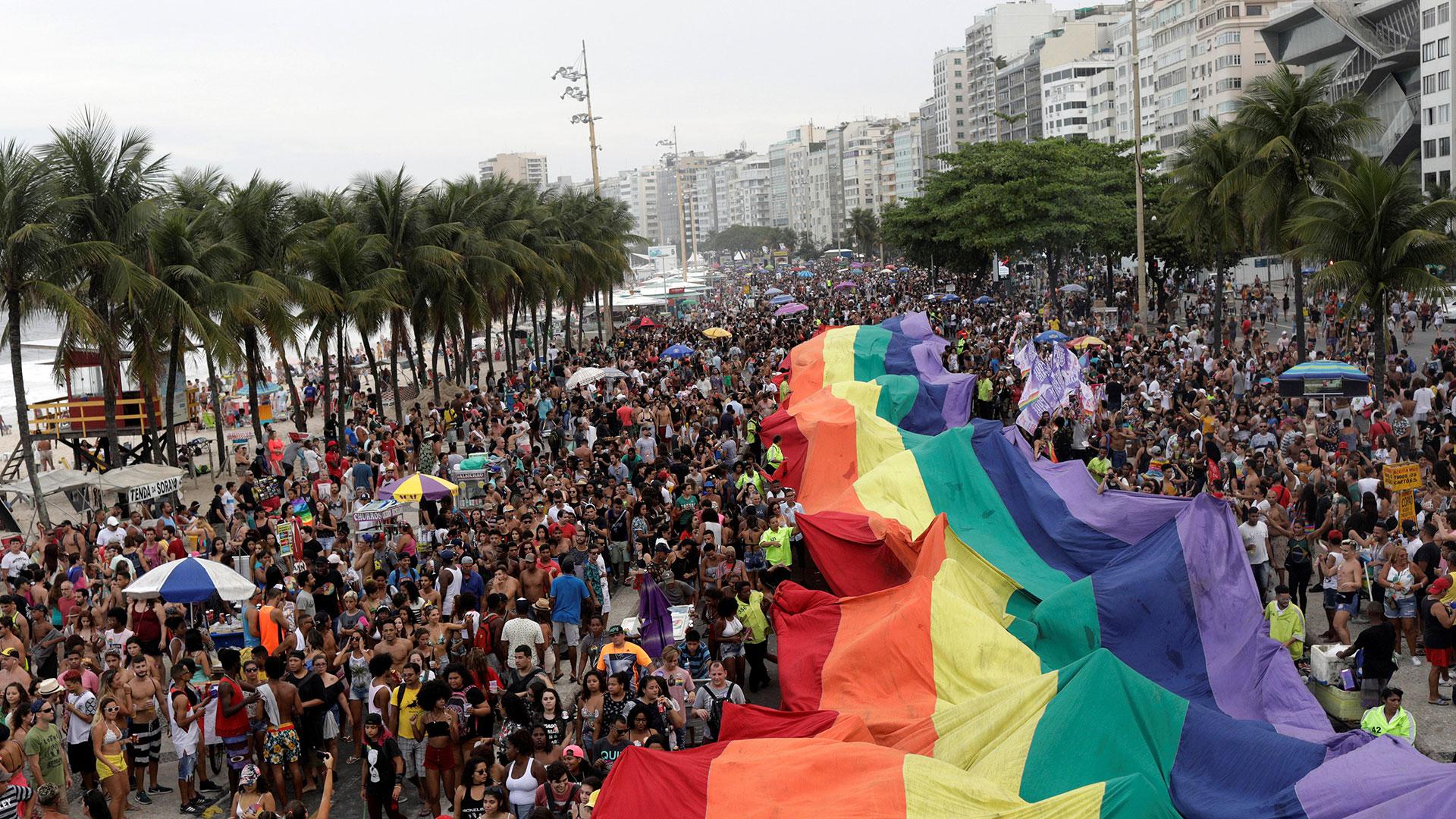 Manifestación del orgullo gay en Brasil (Reuters)