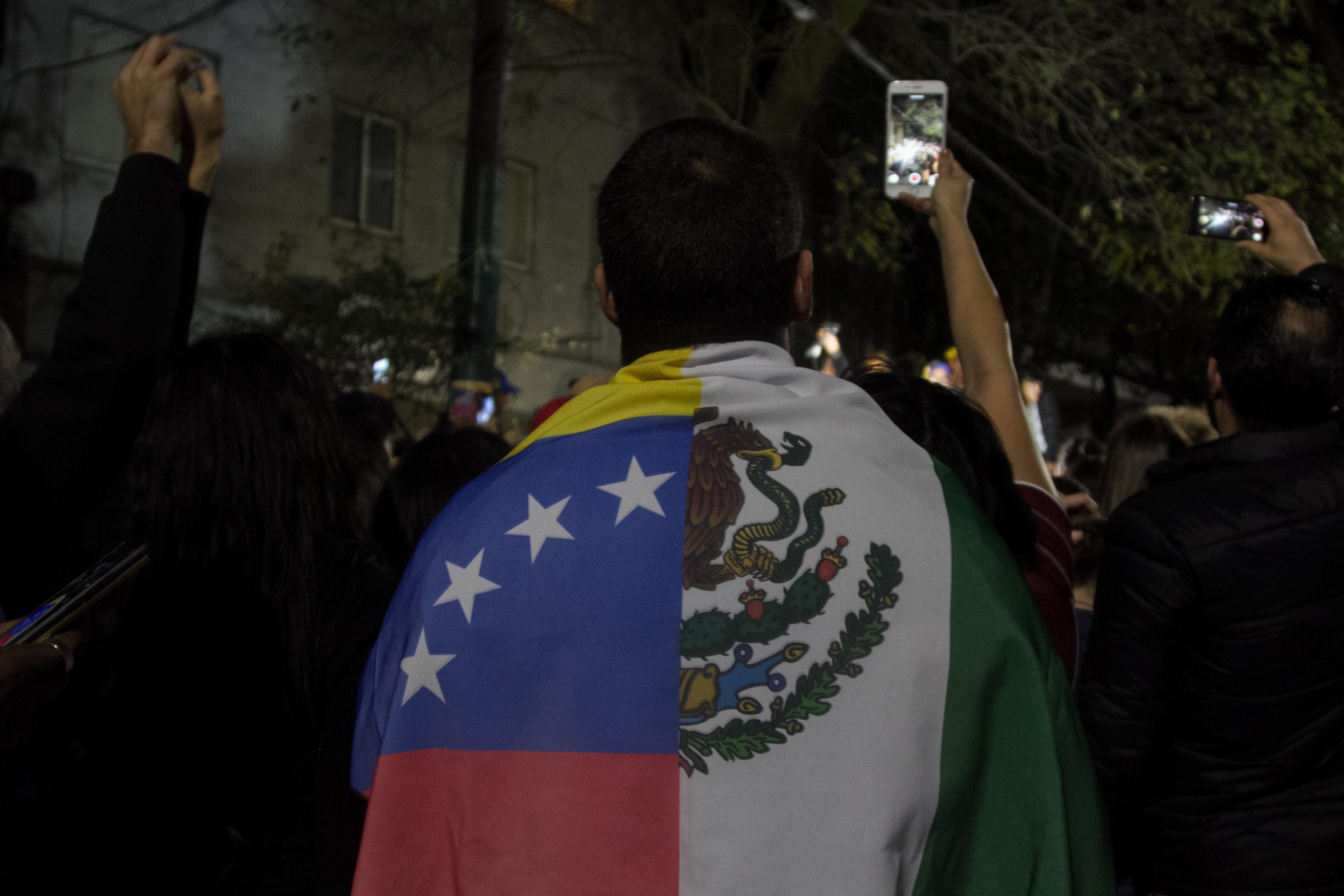 La comunidad venezolana en México se ha manifestado contra Maduro. (Foto: Cuartoscuro)