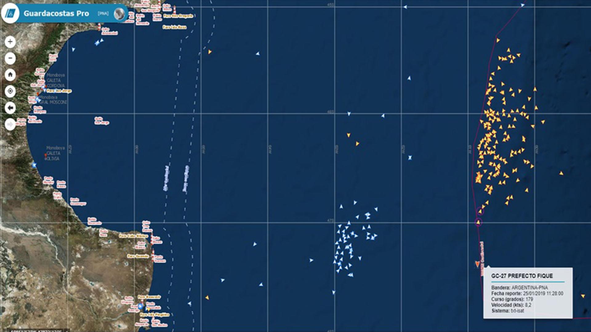 Cómo se combate la pesca ilegal de buques extranjeros en la costa ...