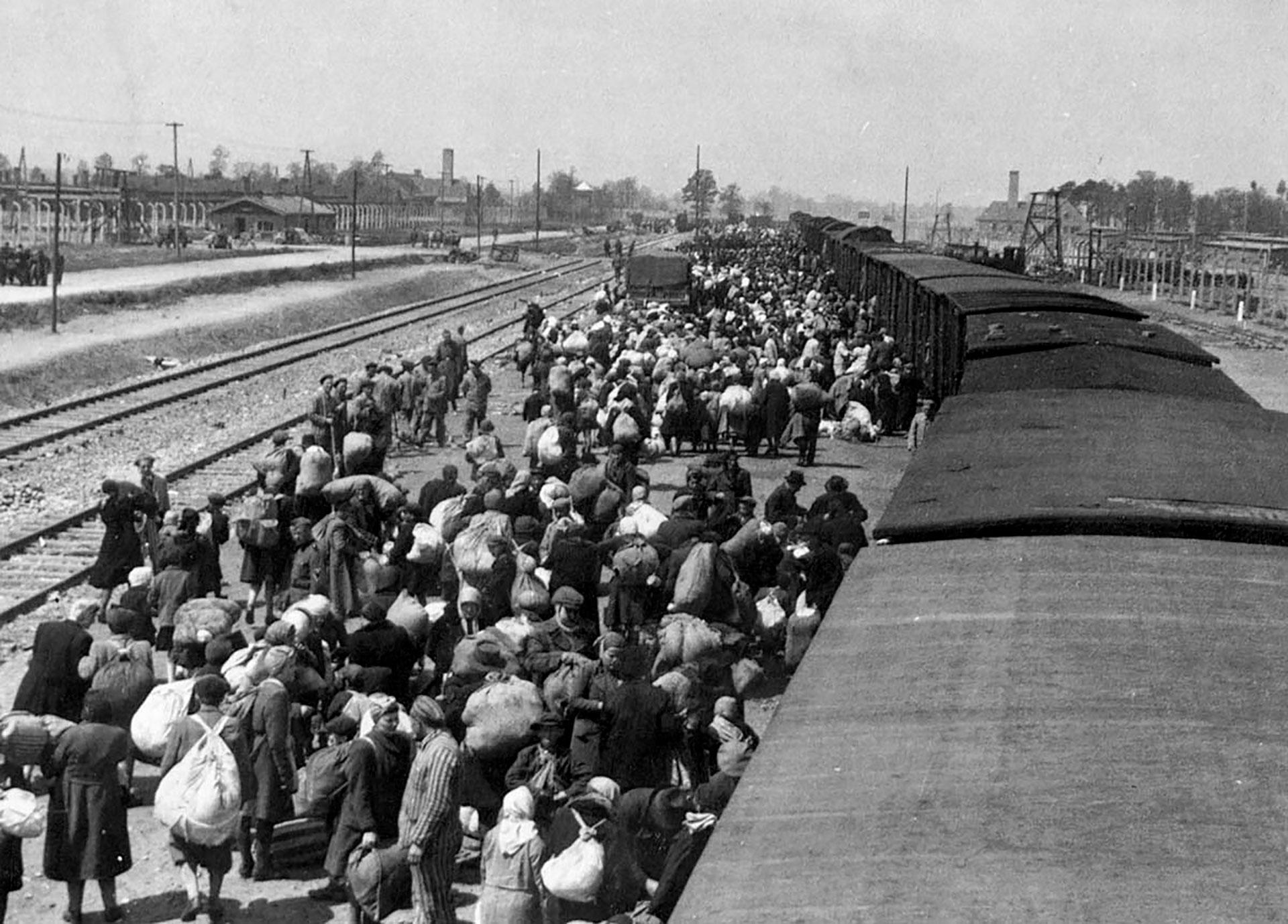 Una imagen registrada entre abril y mayo de 1944