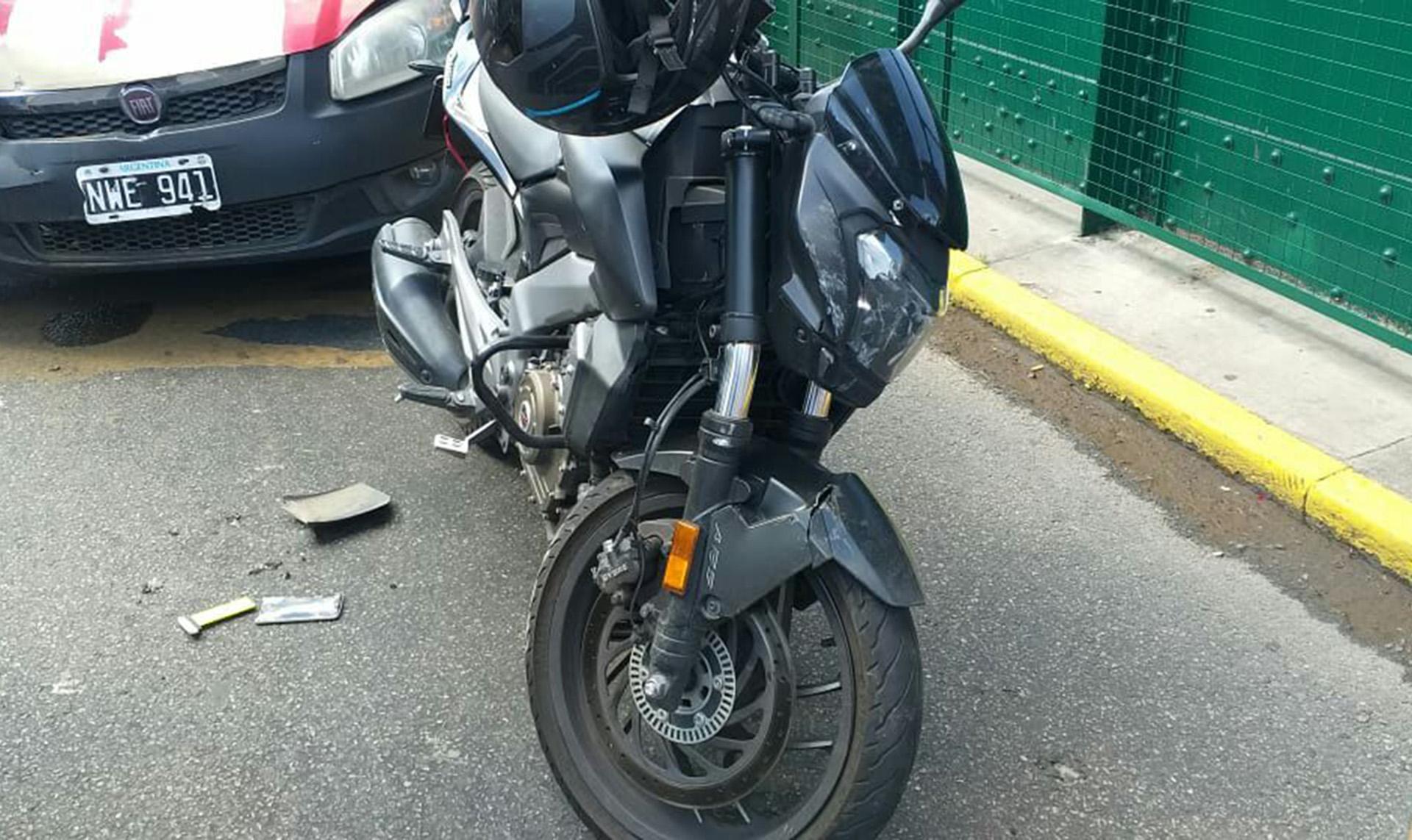 La moto en la que se movilizaba el delincuente