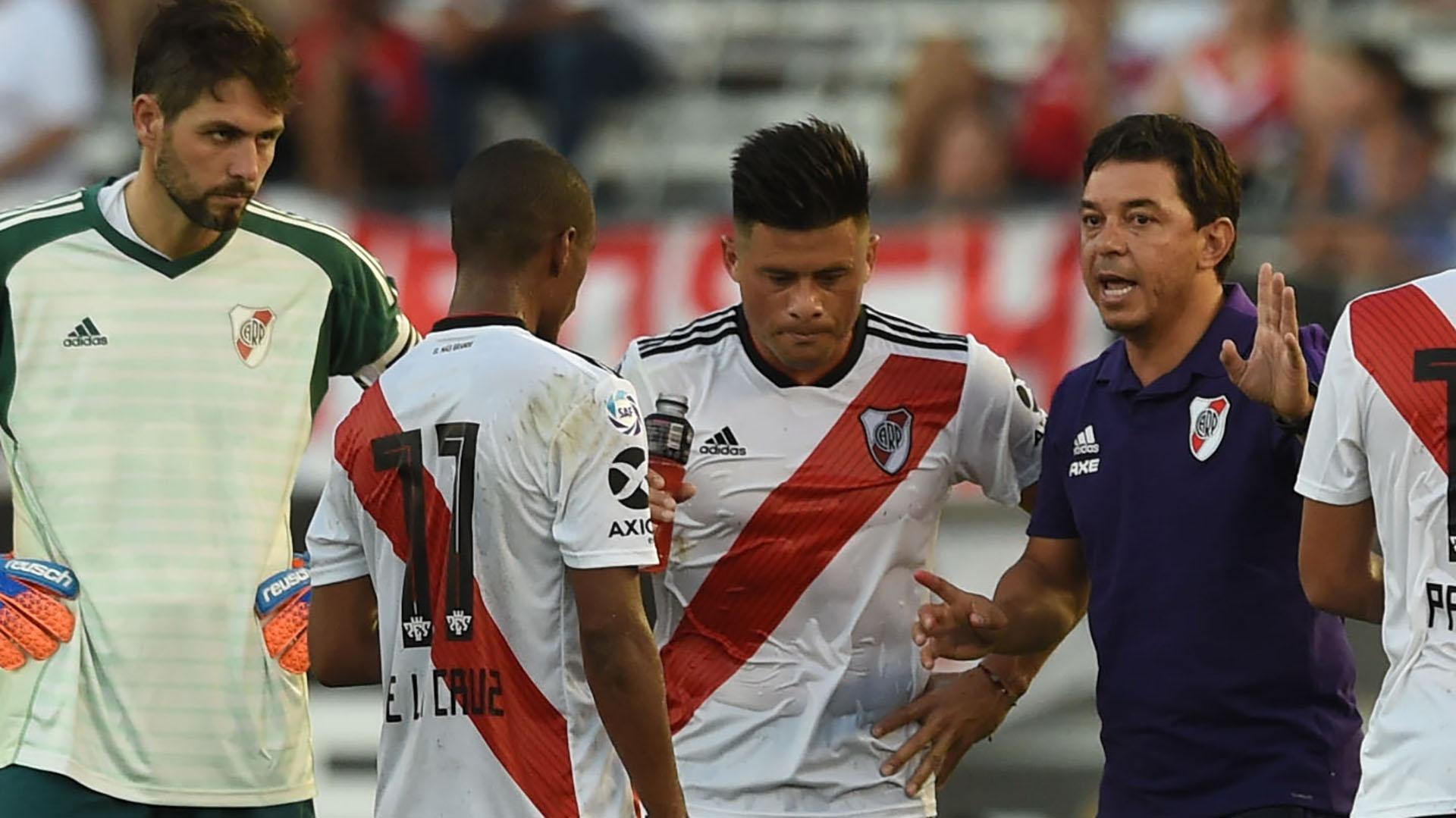 Gallardo sufrió varias bajas en su plantel en los últimos partidos (Foto Baires)