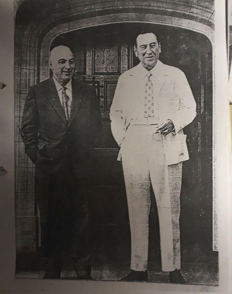 Juan Domingo Perón y José López Rega en Puerta de Hierro, Madrid