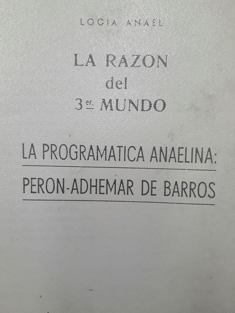 El libro de Julio César Urien firmado como Logia Anael