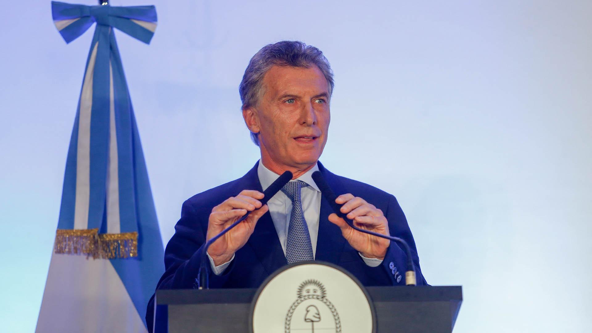 El presidente de la Nación, Mauricio Macri (Nicolás Aboaf)