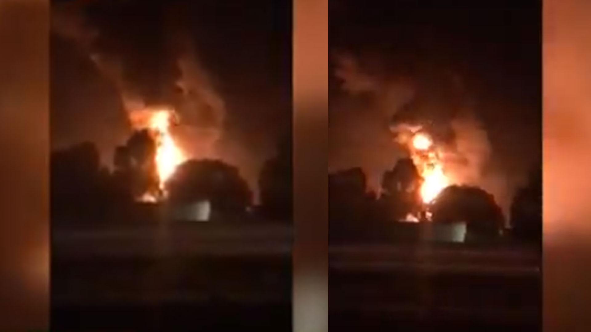 La explosión se registró a las 20:32 horas (Foto: Captura video)