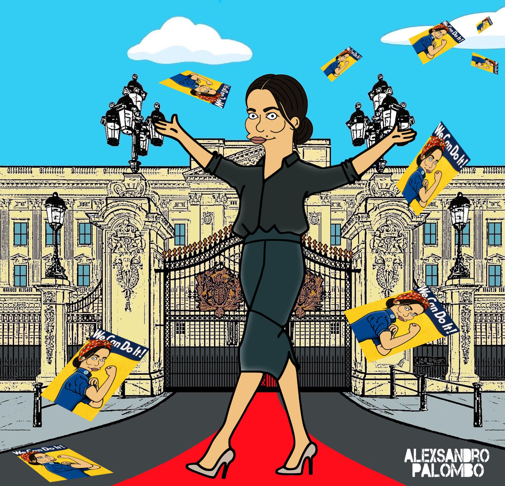 """""""Necesitamos a muchas Meghan Markle en nuestro mundo: una mujer fuerte y decidida, capaz de imponer sus ideales y hacer que se escuche su voz. Todavía tenemos que hacer mucho con respecto a la igualdad de género, es por eso que las mujeres como Meghan son importantes"""", fundamentó Palombo"""