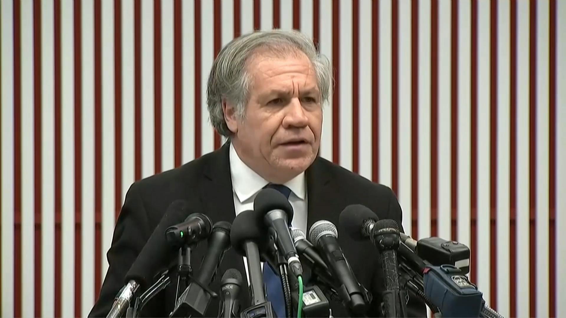 Luis Almagro condenó las intimidaciones denunciadas por Juan Guaidó