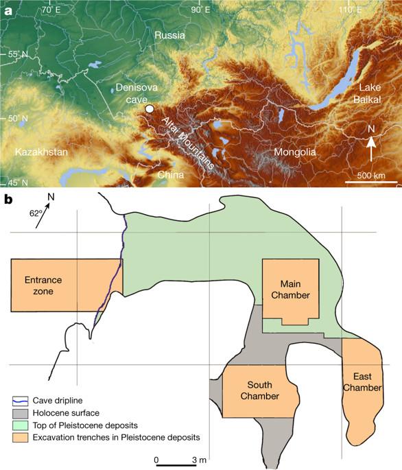 La cavernaubicada en Siberia tiene una entrada (Entrance zone) y tres cámaras: principal (Maine Chamber),sur (South Chamber) y este (East Chamber) (Nature)