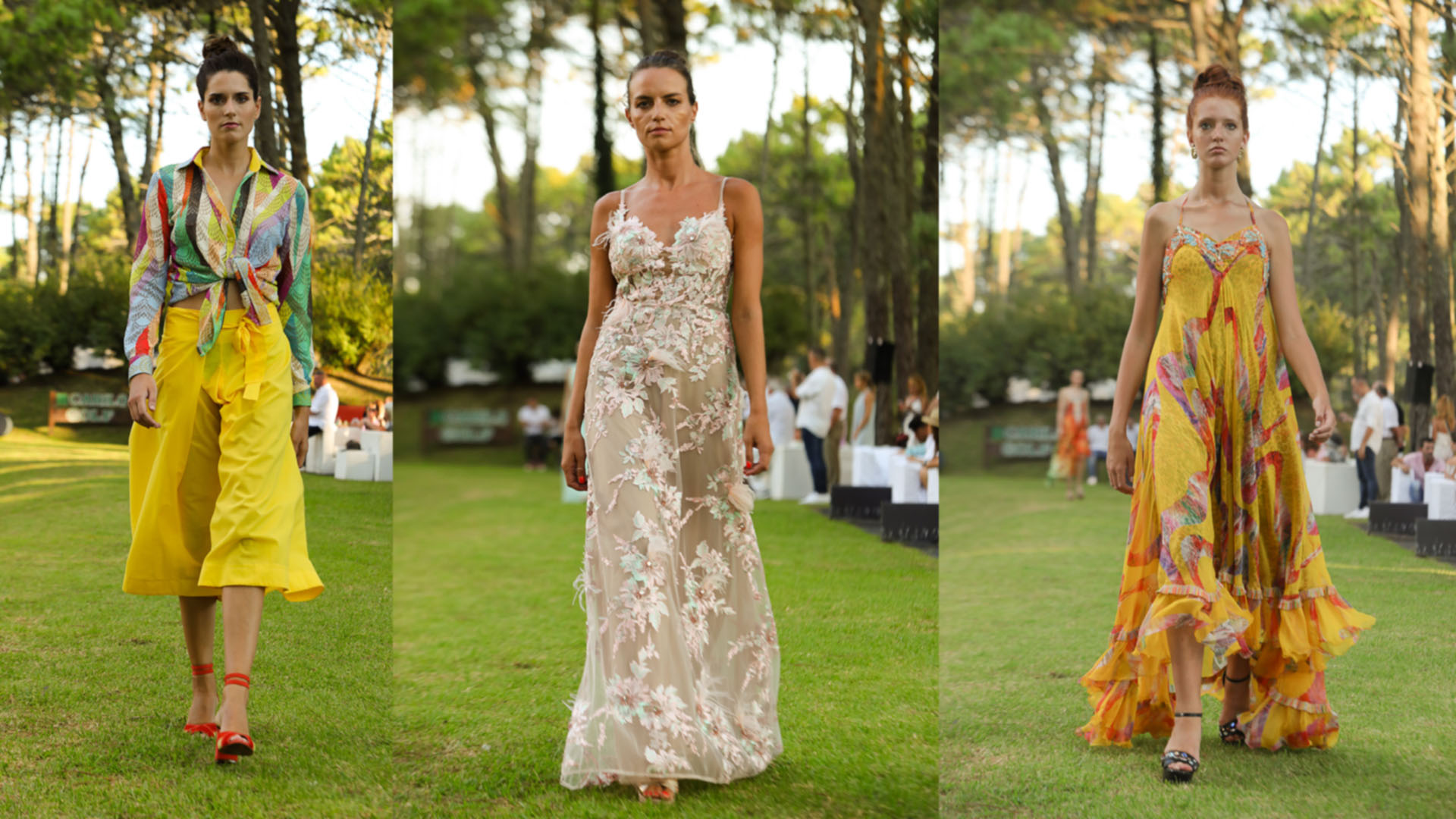 Mariana Dappiano, Laurencio Adot y Benito Fernández presentaron sus colecciones.
