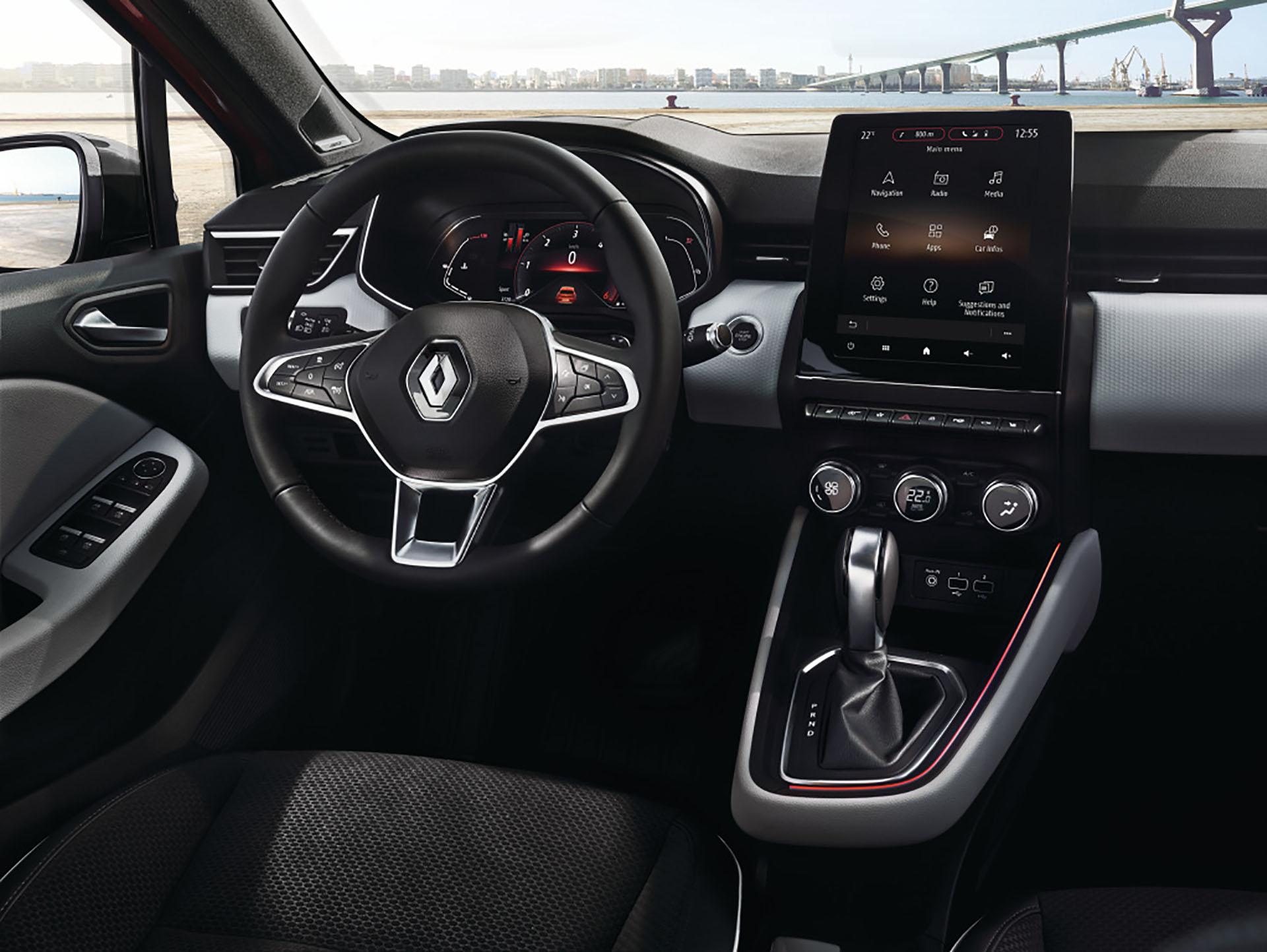 Renault Clio, el interior tuvo un cambio importante con relación a la cuarta generación.