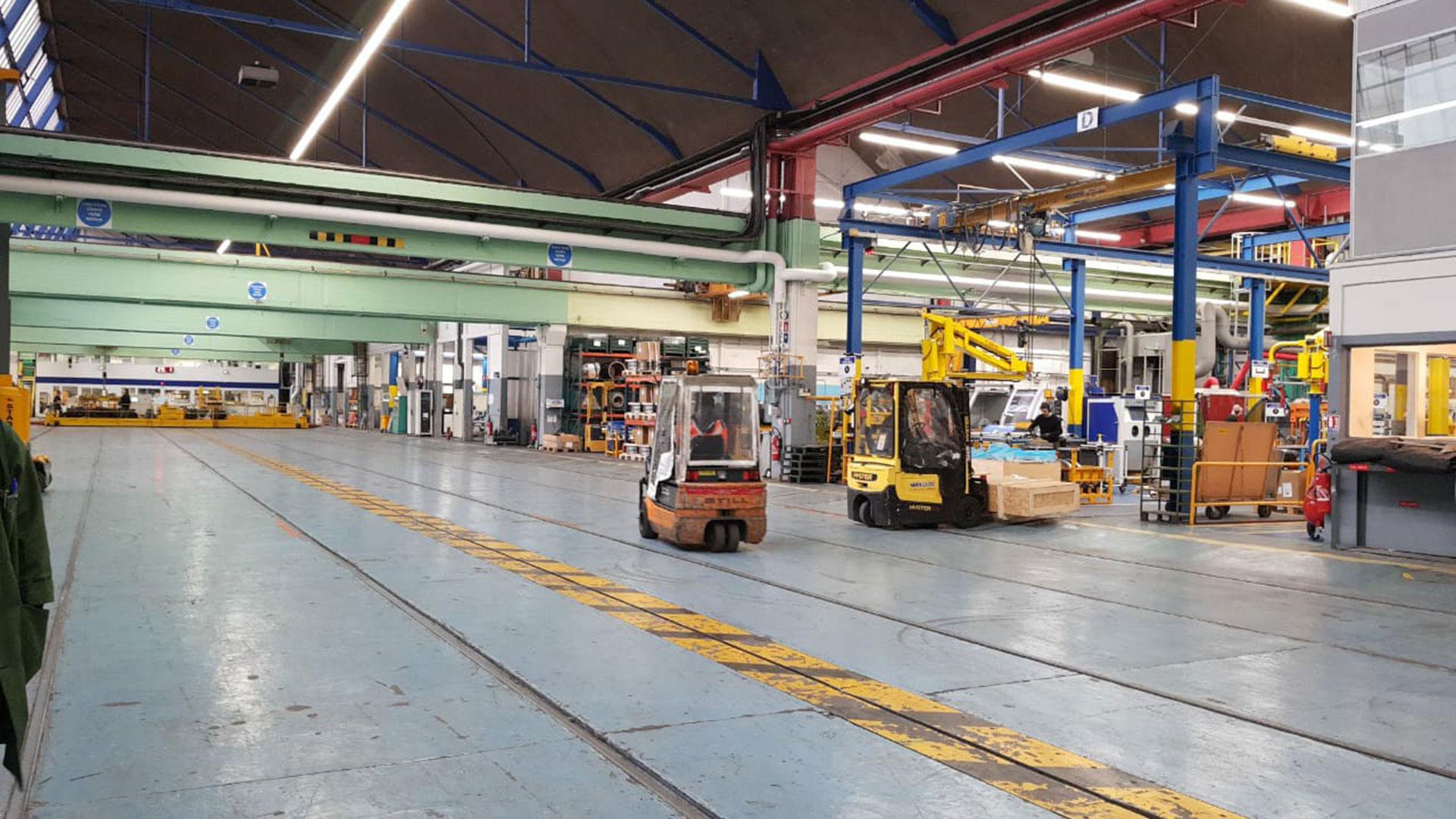 Un taller de mantenimiento de la RATP recientemente reorganizado