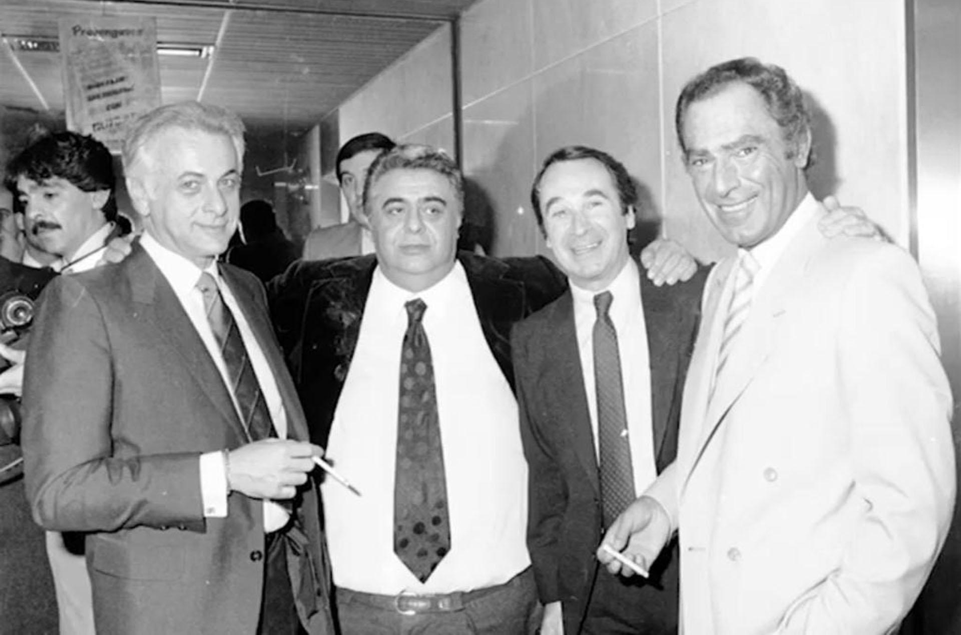 Gerardo Sofovich, Jorge Porcel, Juan Carlos Altavista y Calabró