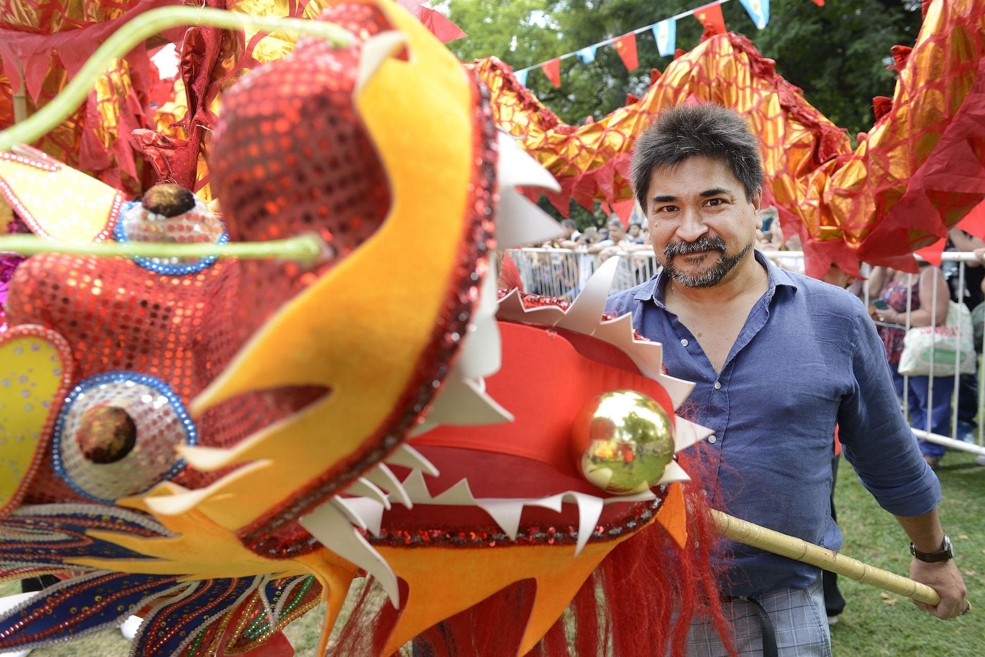 Gustavo NG, periodista y autor del libro del Horóscopo Chino, también es uno de los organizadores de los festejos.
