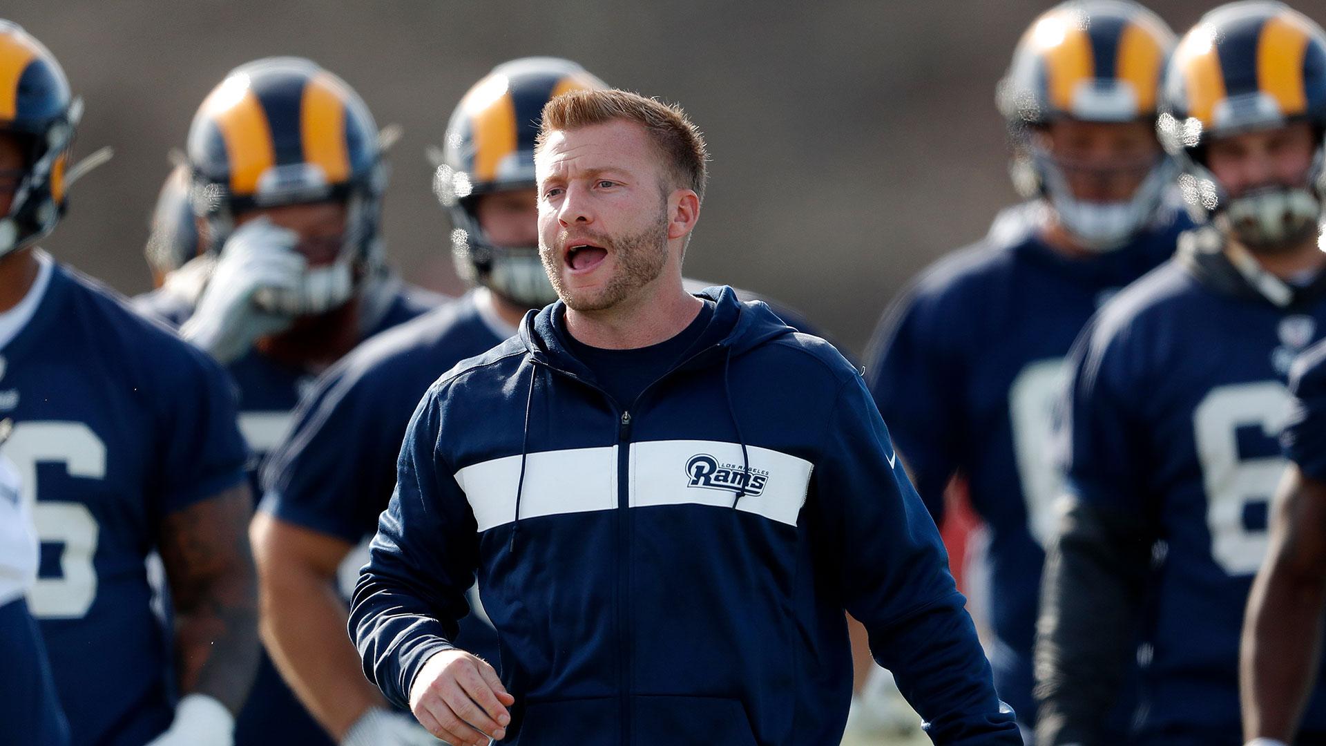 Sean McVay es el entrenador más joven de la historia del Super Bowl (AP)