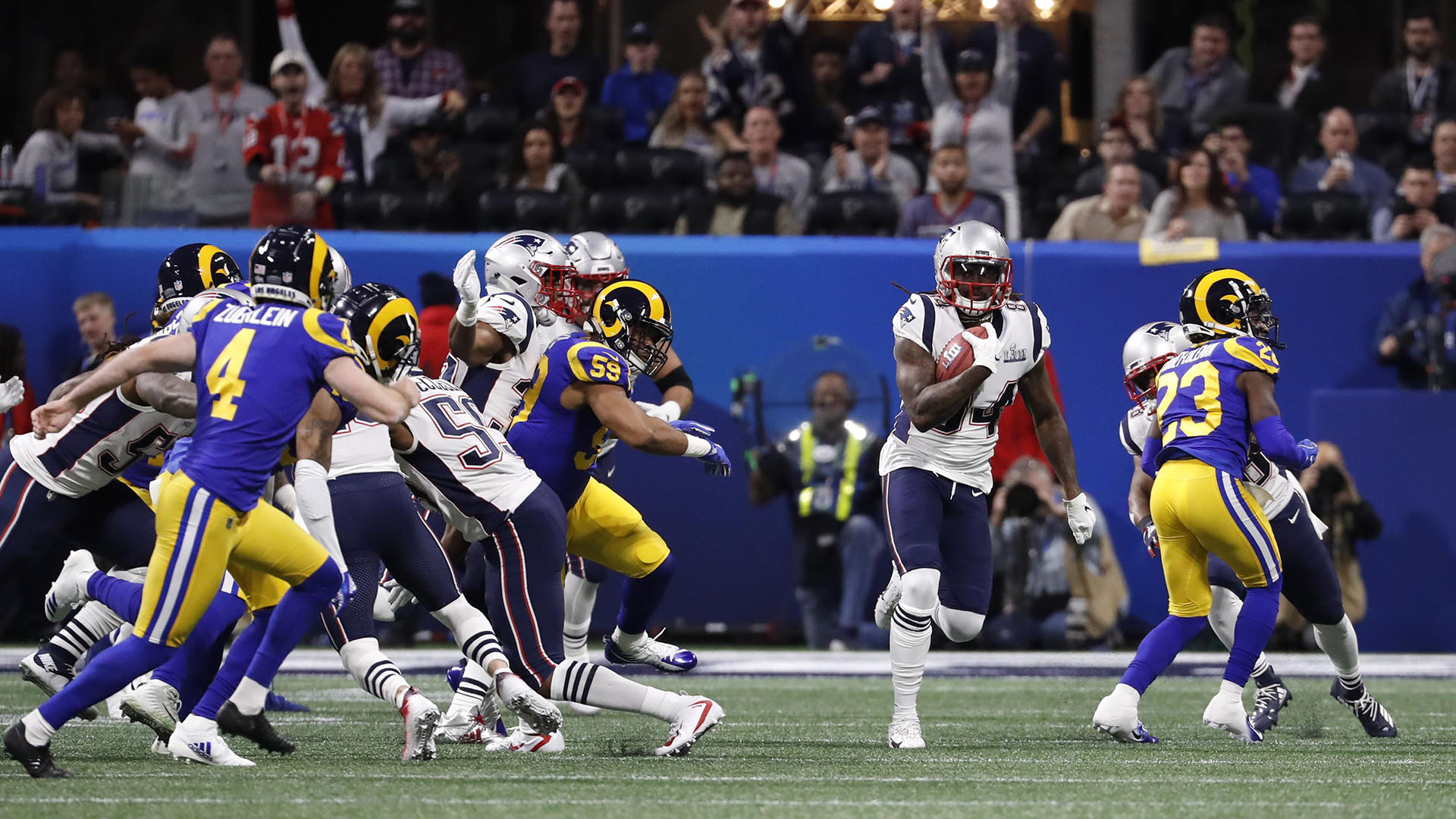 New England Patriots y Los Angeles Rams se enfrentaron en el Super Bowl LIII