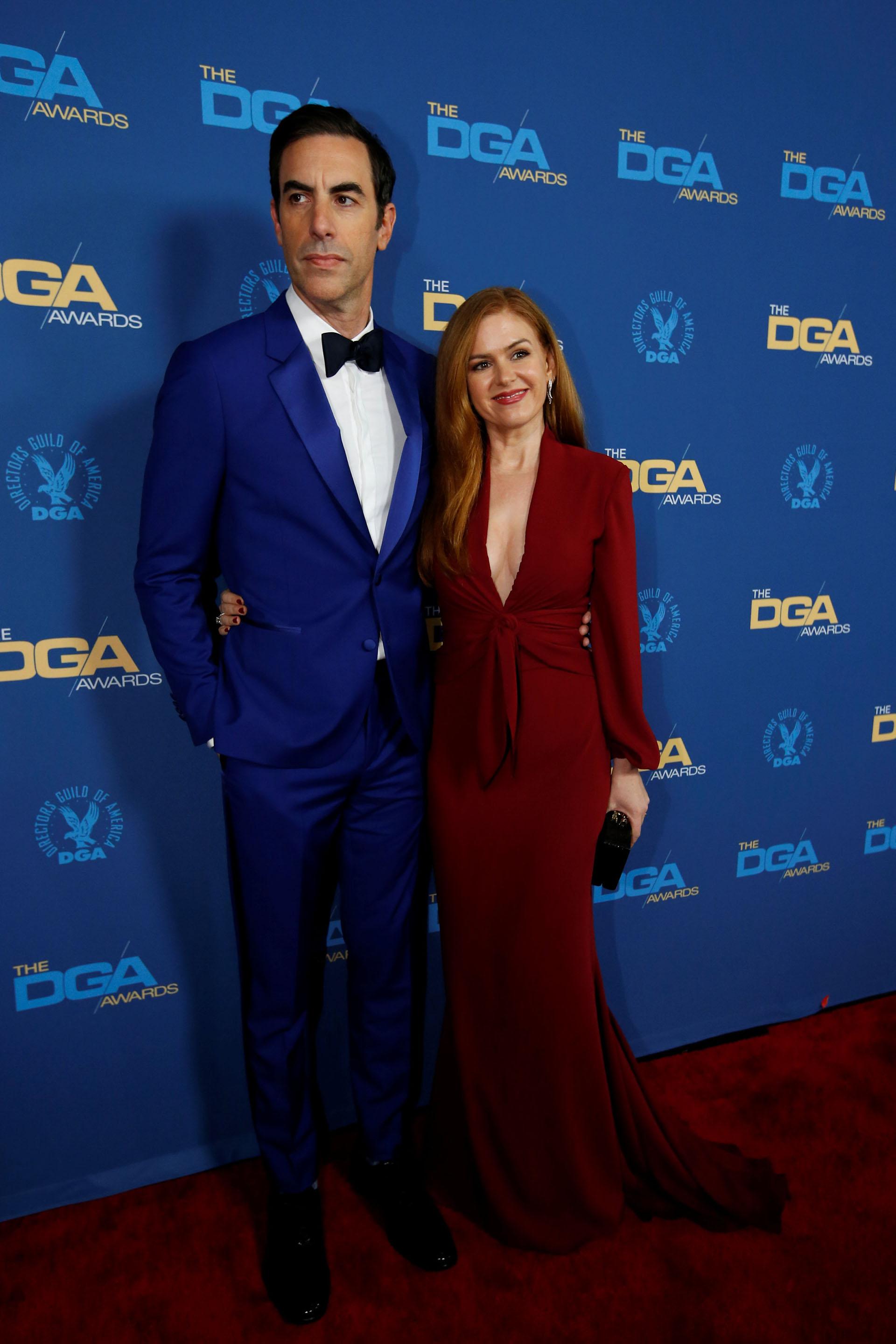 Sacha Baron Cohen y su mujer Isla Fisher
