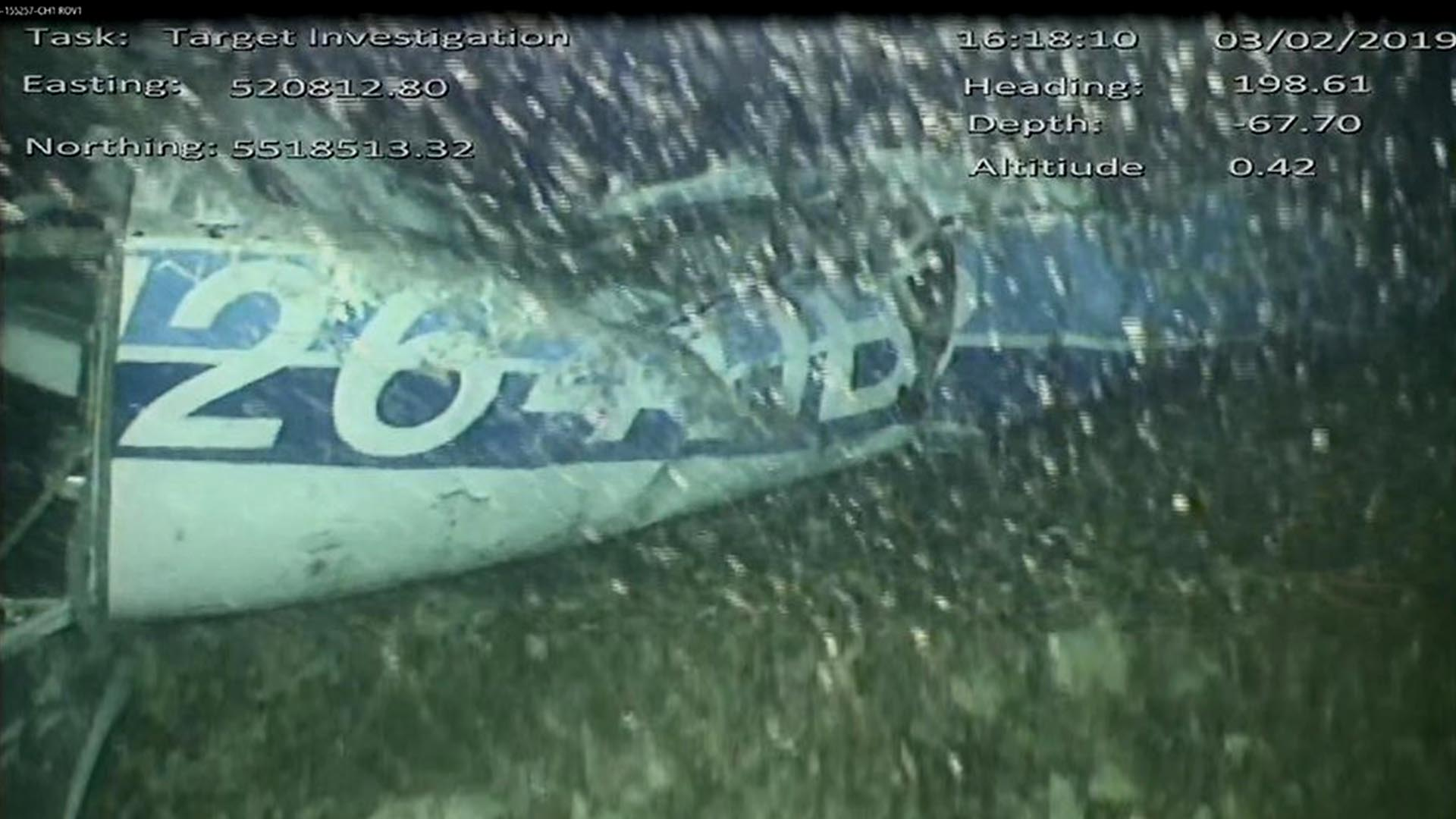 La imagen de la aeronave en el fondo del Canal de la Mácula (Foto: AAIB)