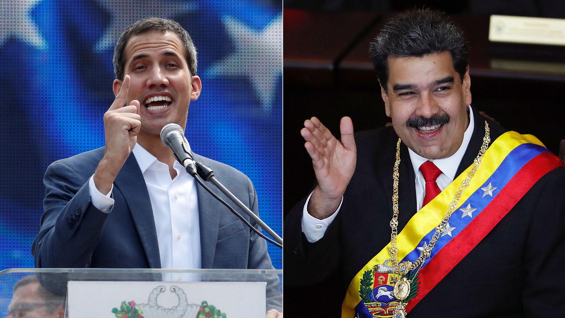 Juan Guaidó y Nicolás Maduro (Reuters)