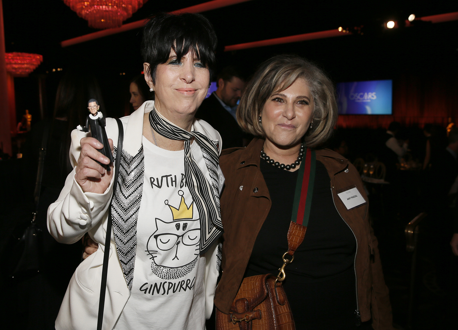 Diane Warren y Amy Pascal