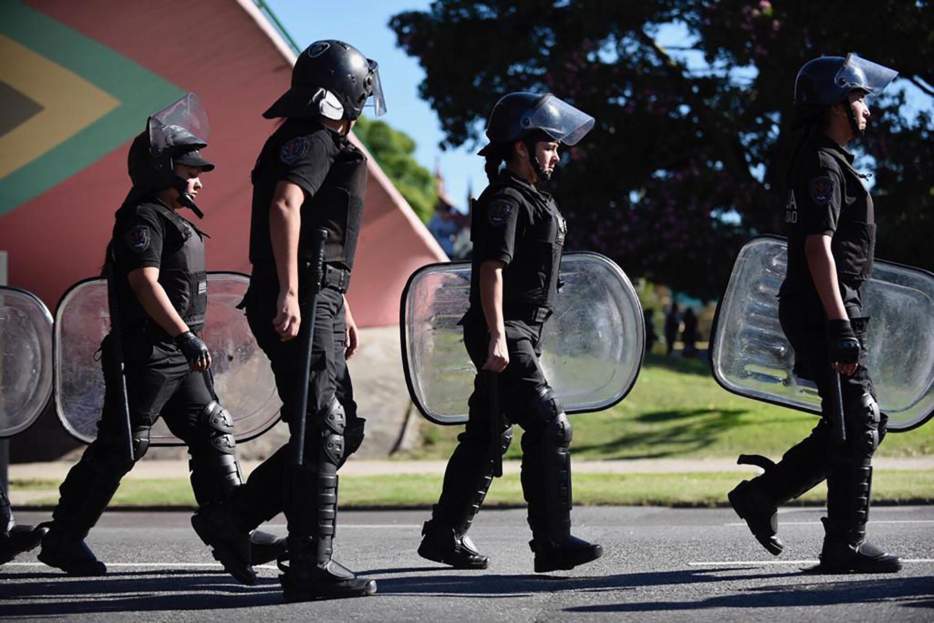 La Policía evitó que el corte Figueroa Alcorta sea total