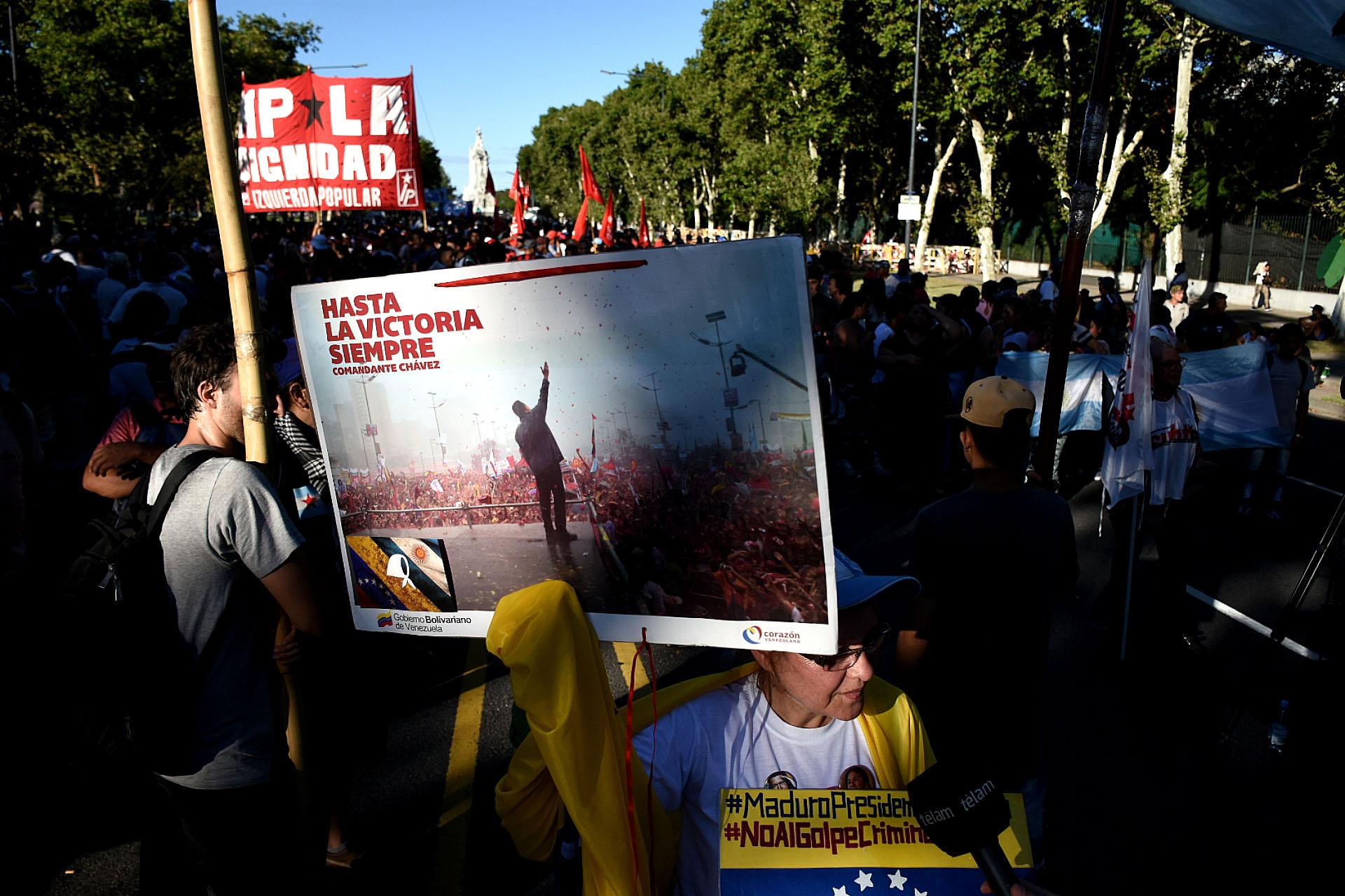 La marcha revindicó el régimen de Nicolás Maduro en Venezuela