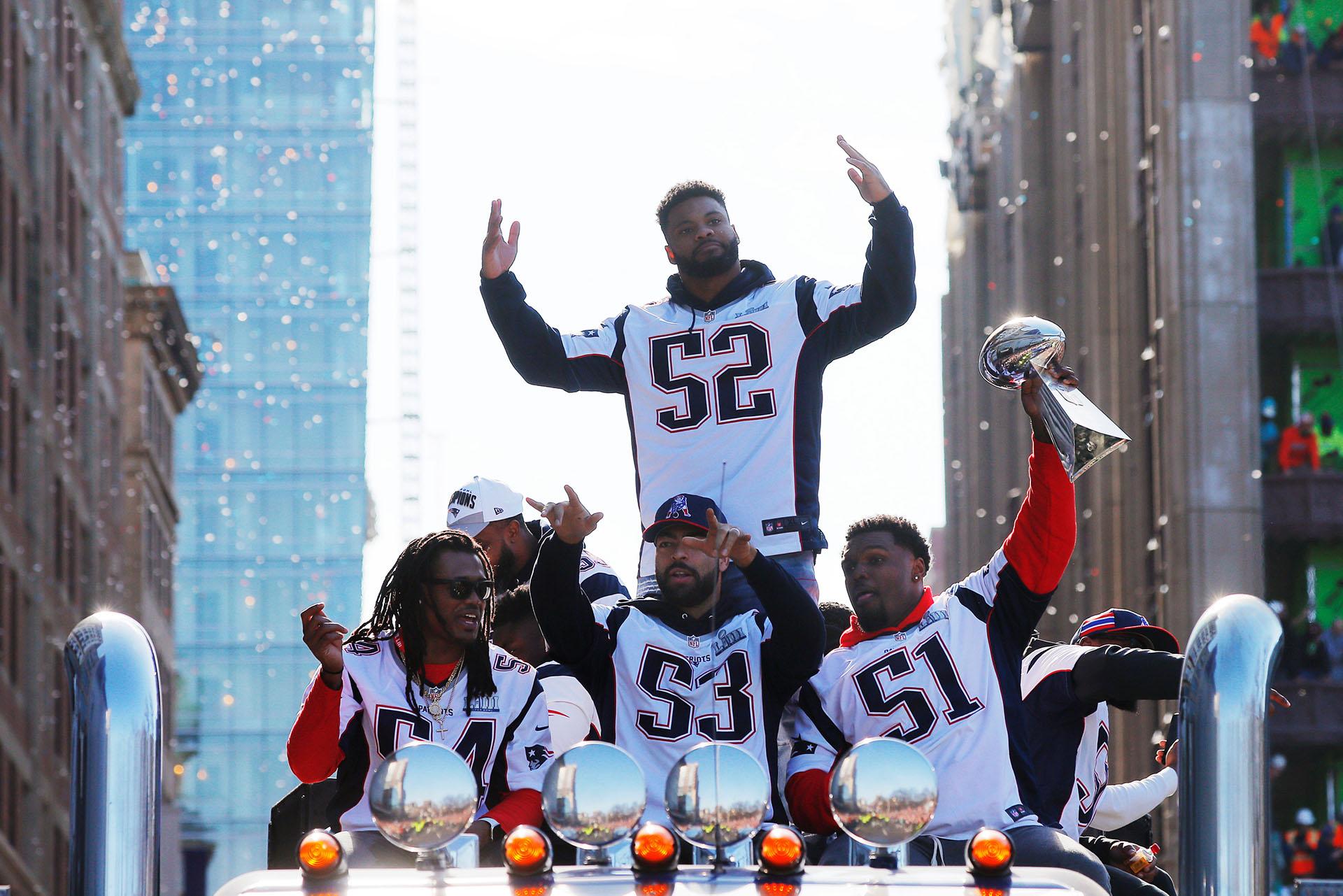 Este martes, el equipo llegó a Boston para celebrar