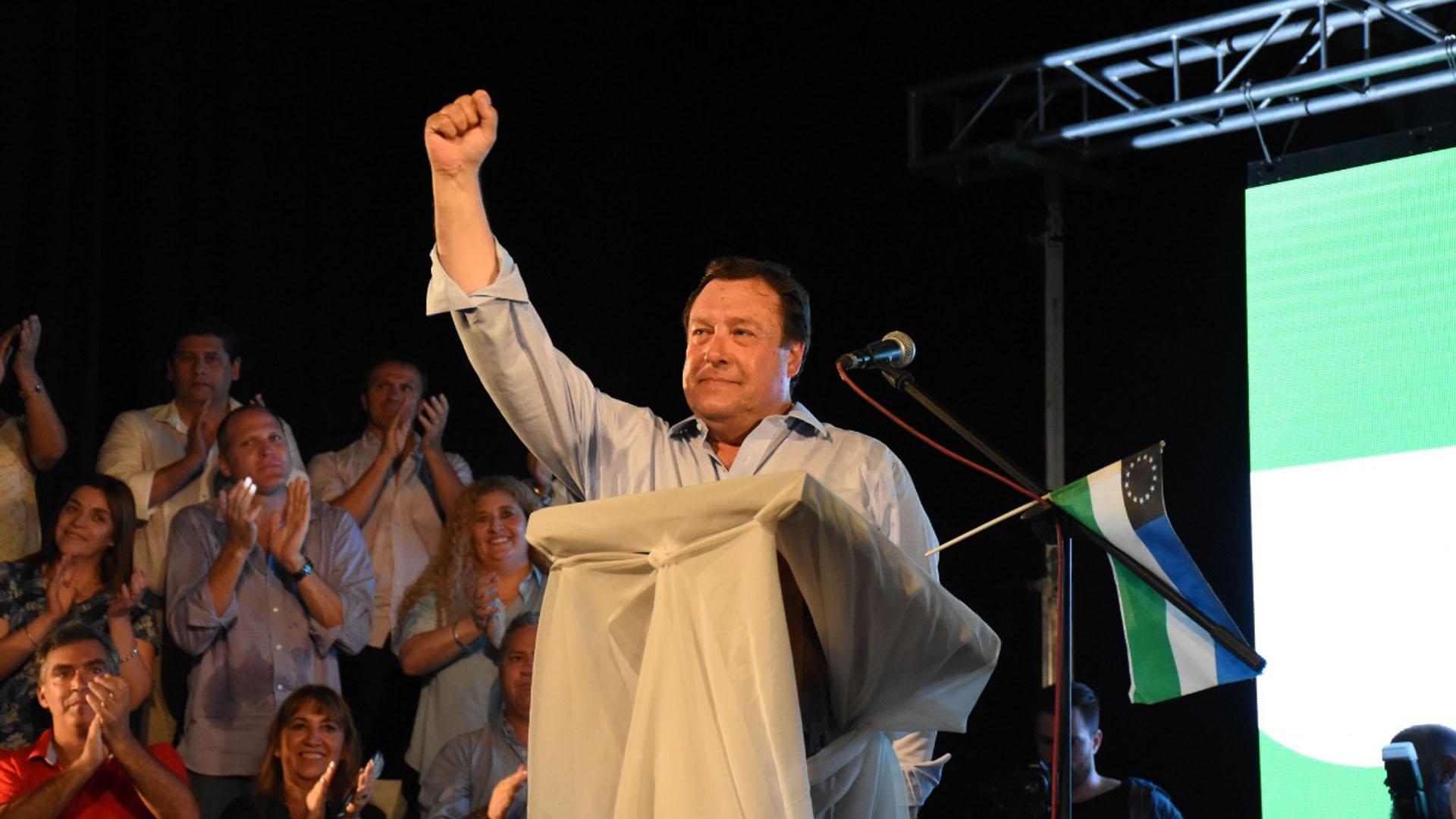 El gobernador Alberto Weretilneck