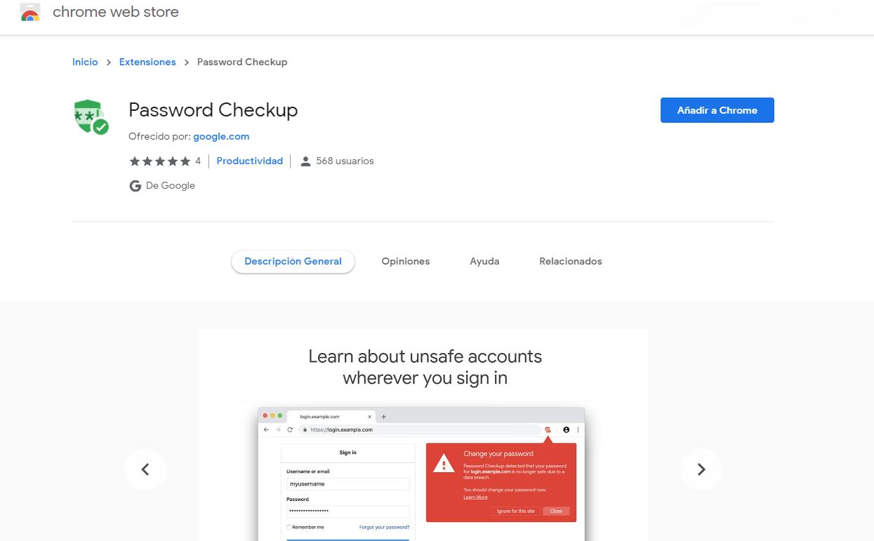 Password Checkup fue creado teniendo en cuenta la privacidad (Foto: captura de pantalla)