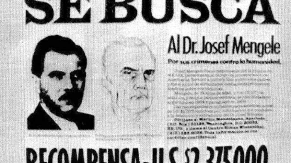 El cartel en la oficina de Simón Wiesenthal