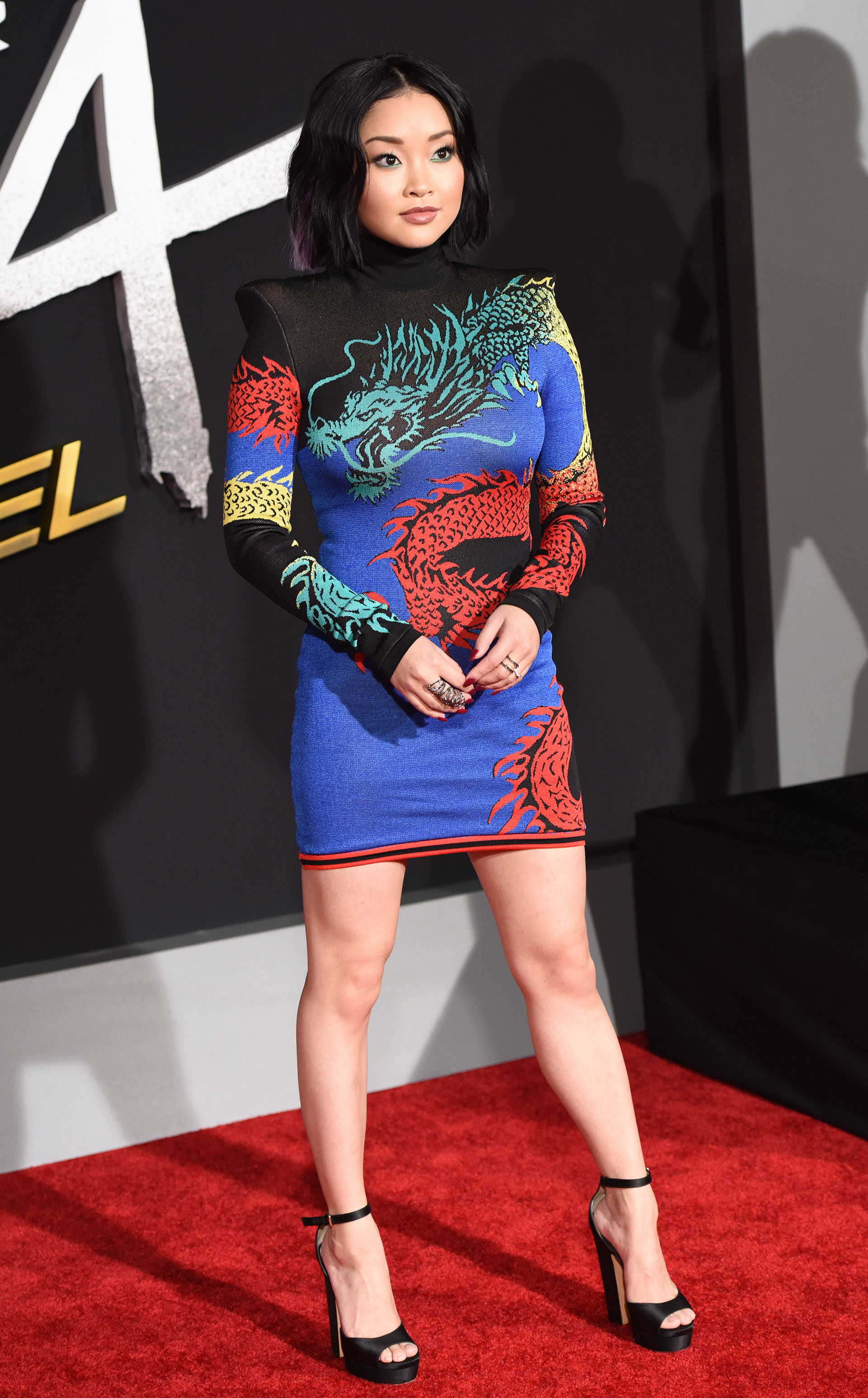 "Actress Lana Condor attends the premiere of ""Alita Battle Angel"" on February 5, 2019 at the Westwood Village Regency Theatre in Westwood, California. (Photo by Robyn Beck / AFP)"