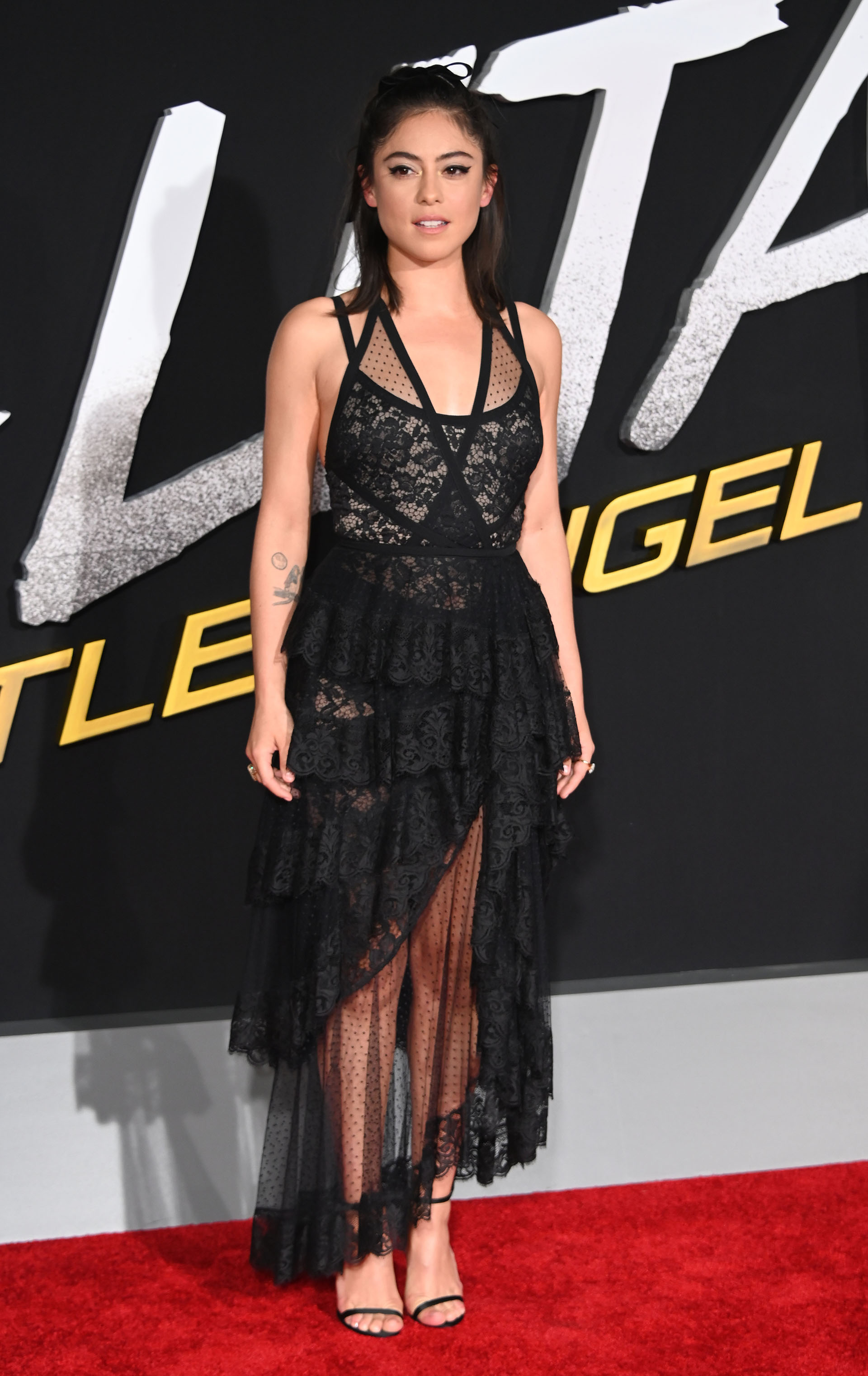 "Actress Rosa Salazar attends the premiere of ""Alita Battle Angel"" on February 5, 2019 at the Westwood Village Regency Theatre in Westwood, California. (Photo by Robyn Beck / AFP)"