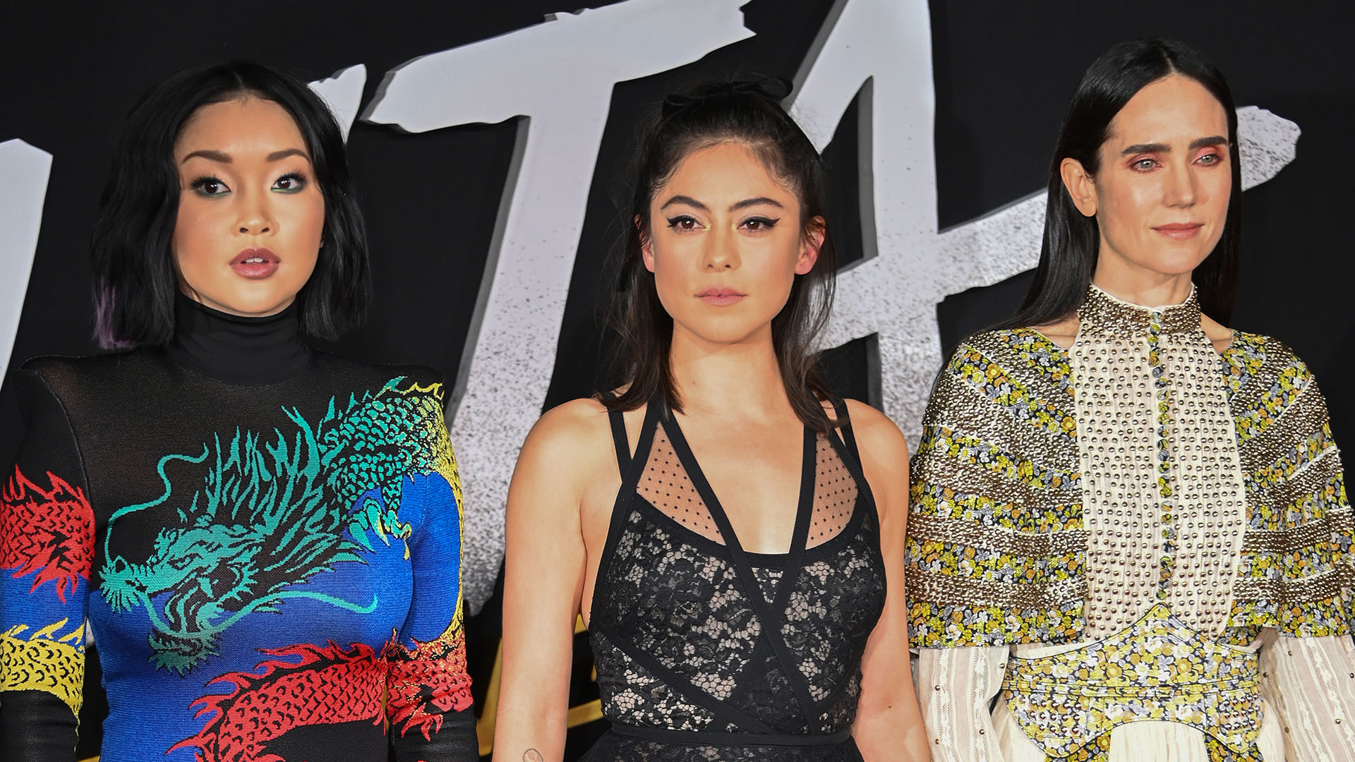 Cautivantes: Lana Condor, Rosa Salazar y Jennifer Connelly /// Fotos: AFP