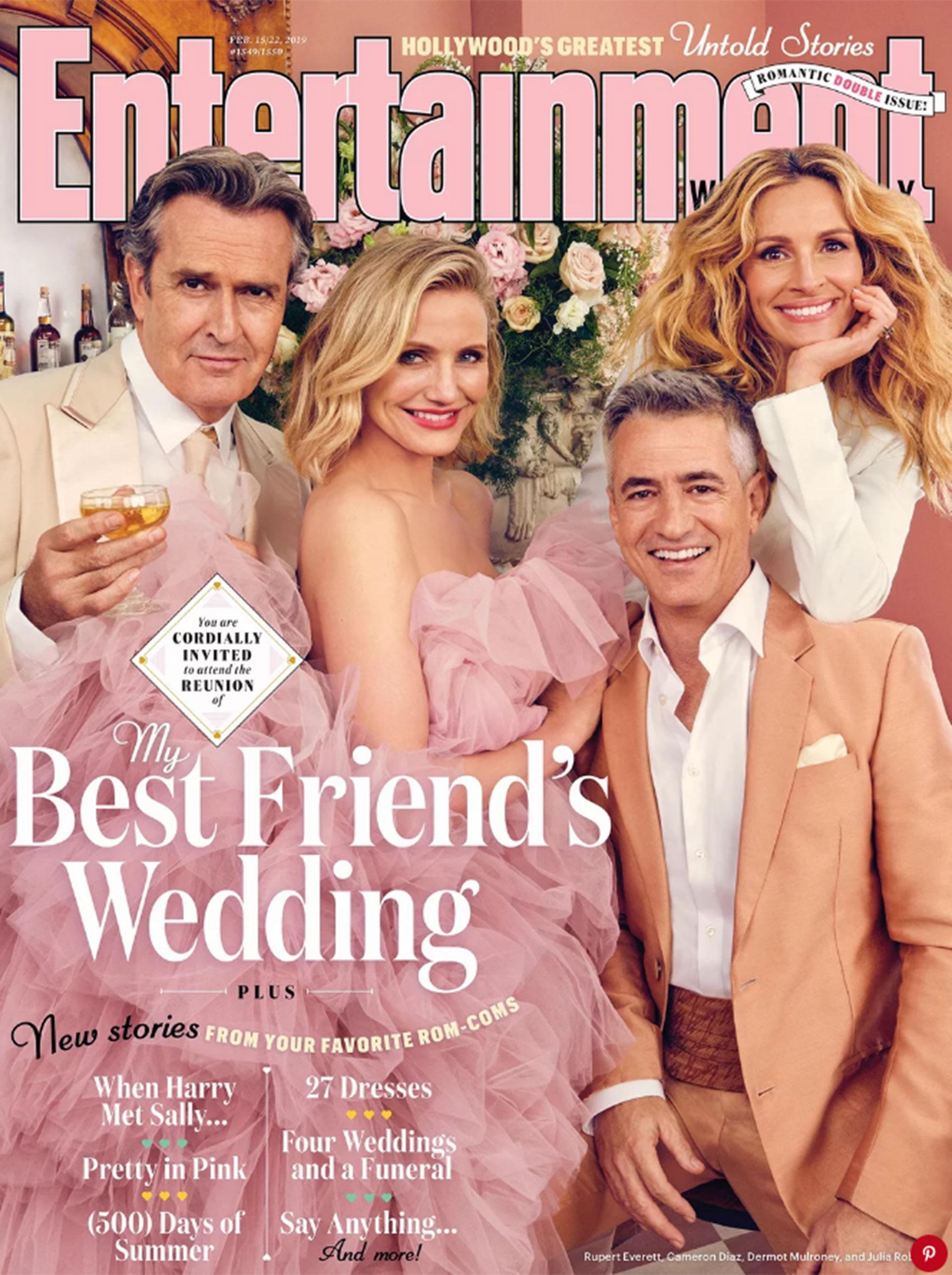 Julia Roberts, Dermot Mulroney, Cameron Diaz y Rupert Everett en la portada de EW