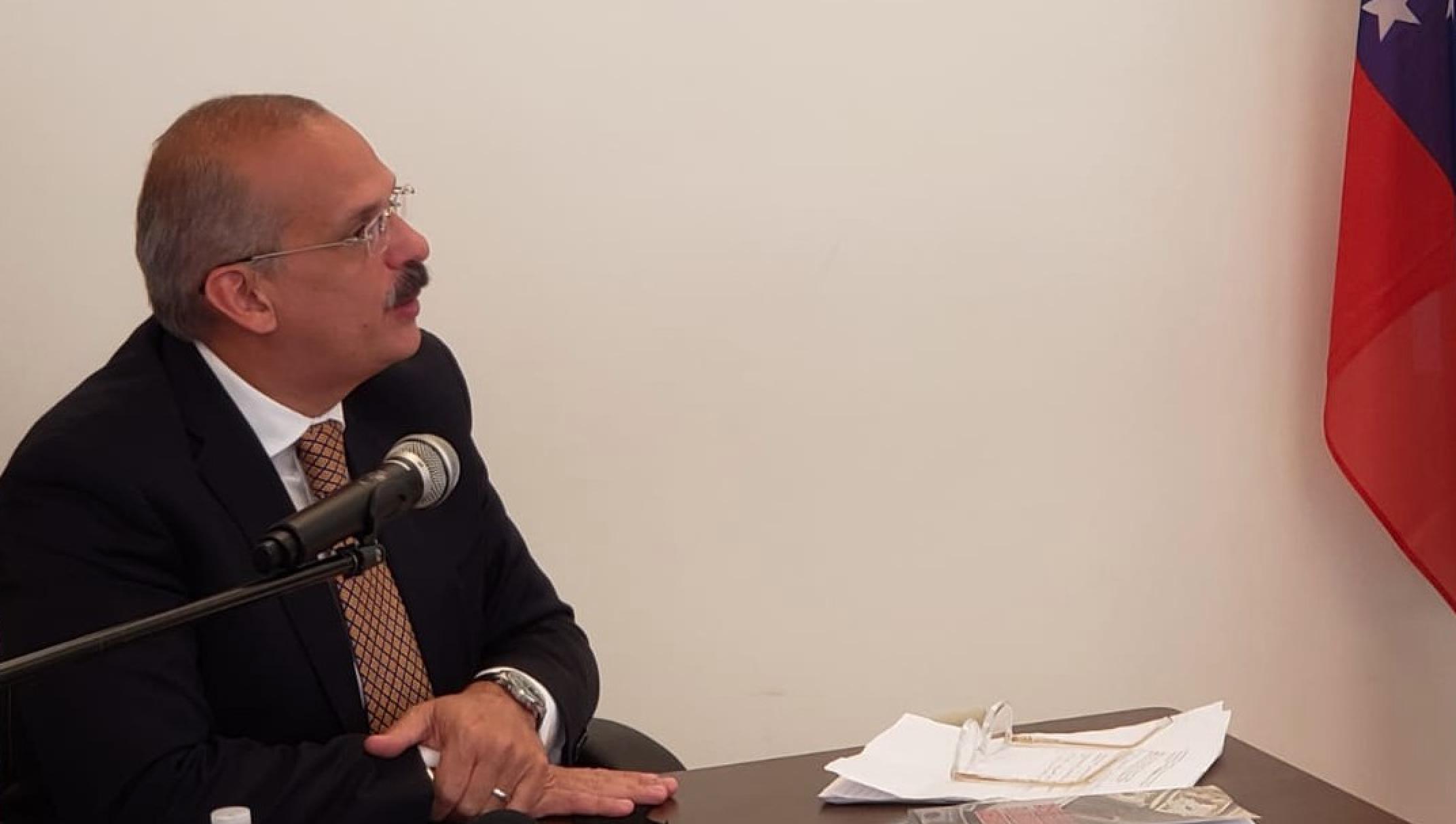 El abogado penalista venezolano Alejandro Rebolledo, magistrado principal de la Sala de Casación Penal del Tribunal Supremo de Venezuela en el exilio