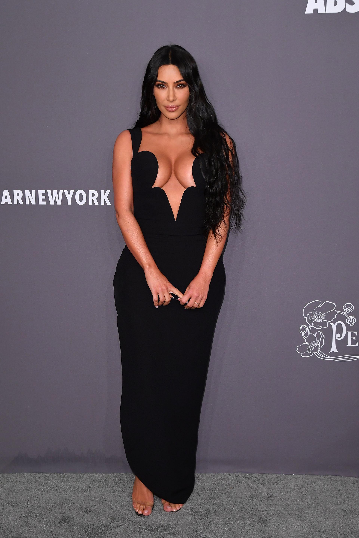 Kim Kardashian West a su llegada a la gala de amfAR, que se llevó a cabo en Cipriani Wall Street
