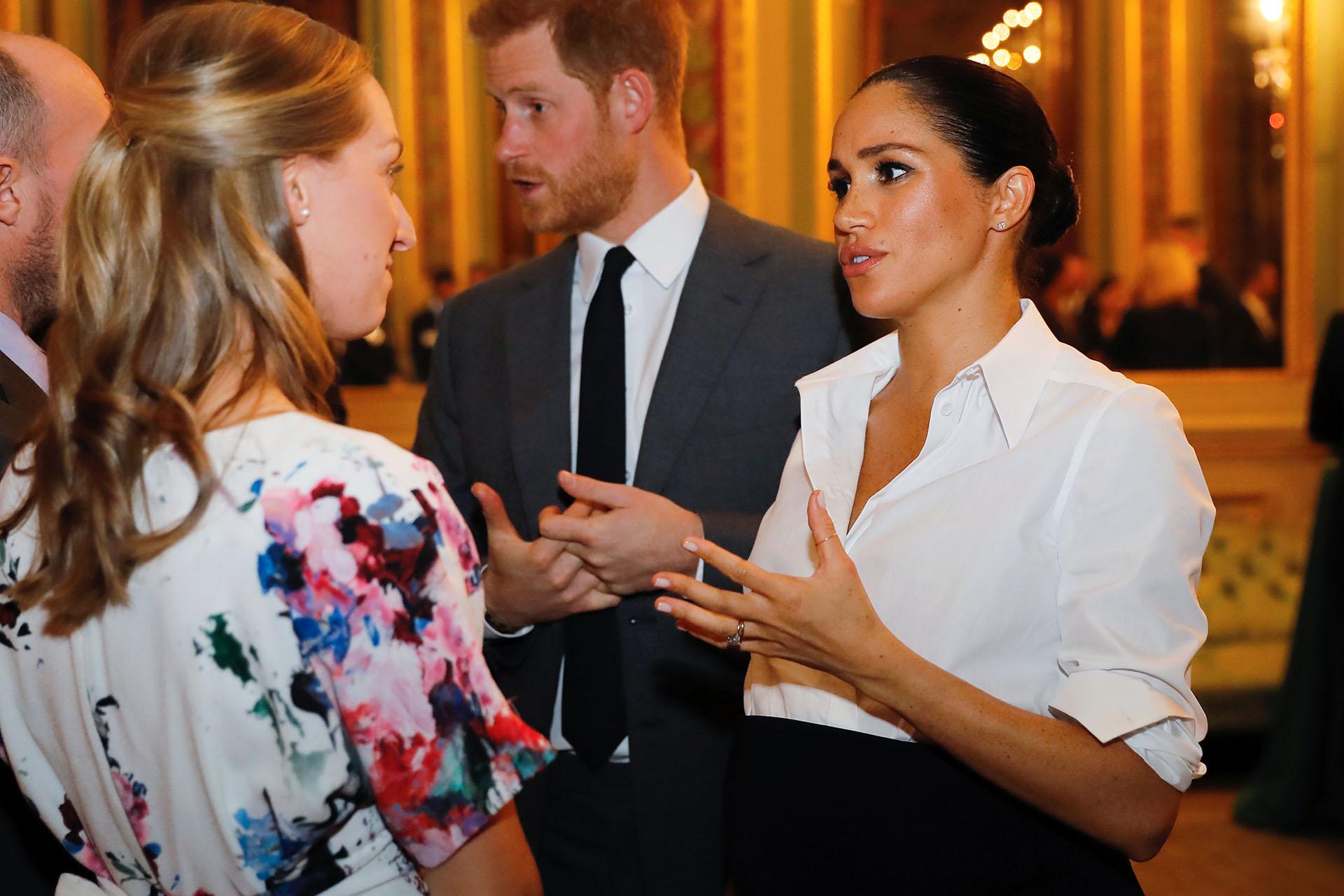 Los duques de Sussex a su llegada a una recepción con motivo de la entrega de los Endeavour Fund Awards, en Londres