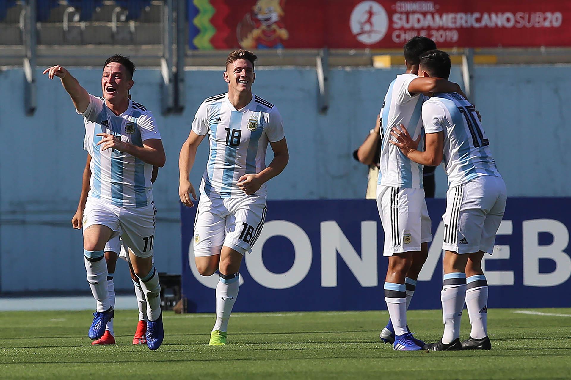 Argentina va por el título en el Sudamericano Sub 20 de Chile (AFP)
