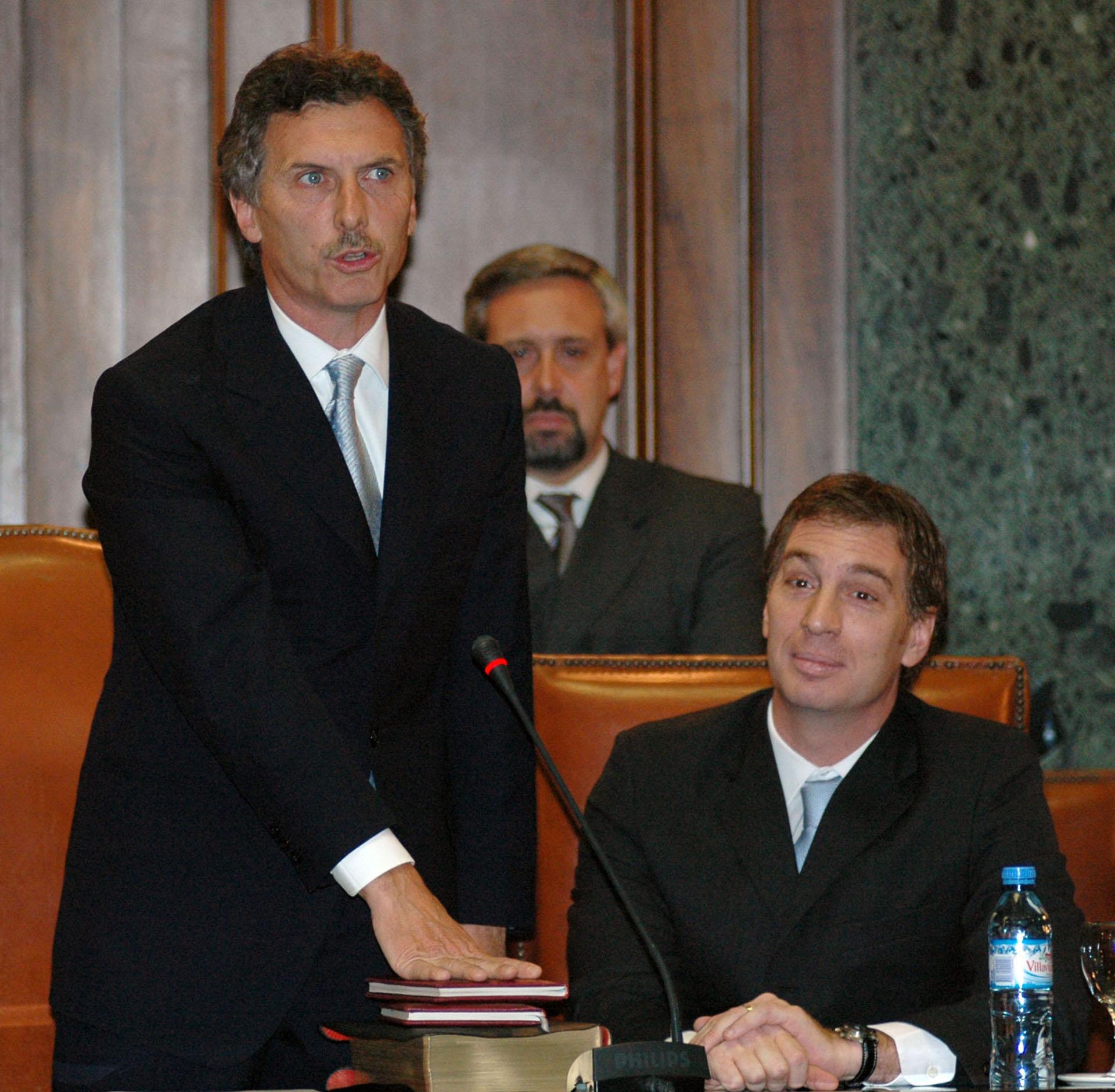 2007. Durante el acto en el que asumió su cargo, realizado en la legislatura de la Ciudad