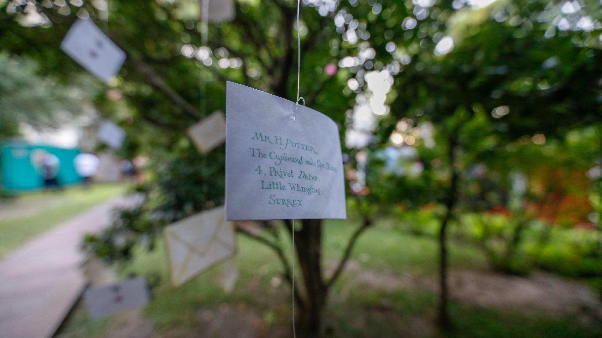 Los jardines de la embajada cumplieron las expectativas de los presentes que se sentían en la escuela de magia