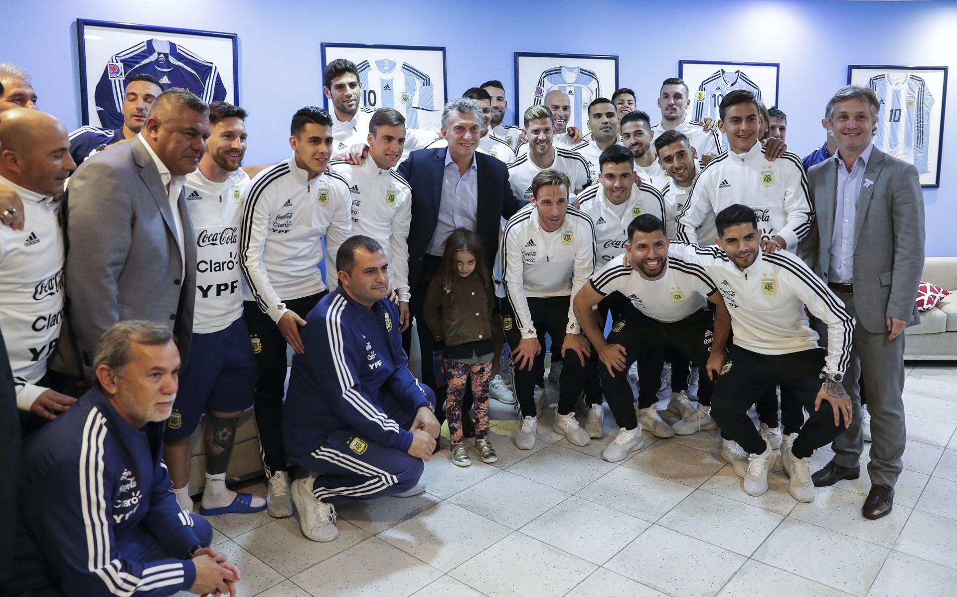 2018. Despedida de la Selección Argentina previo a su partida al Mundial de Rusia.