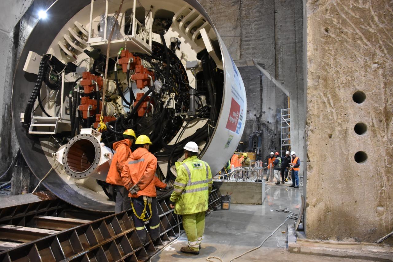 Montaje de la tunelera Beatriz