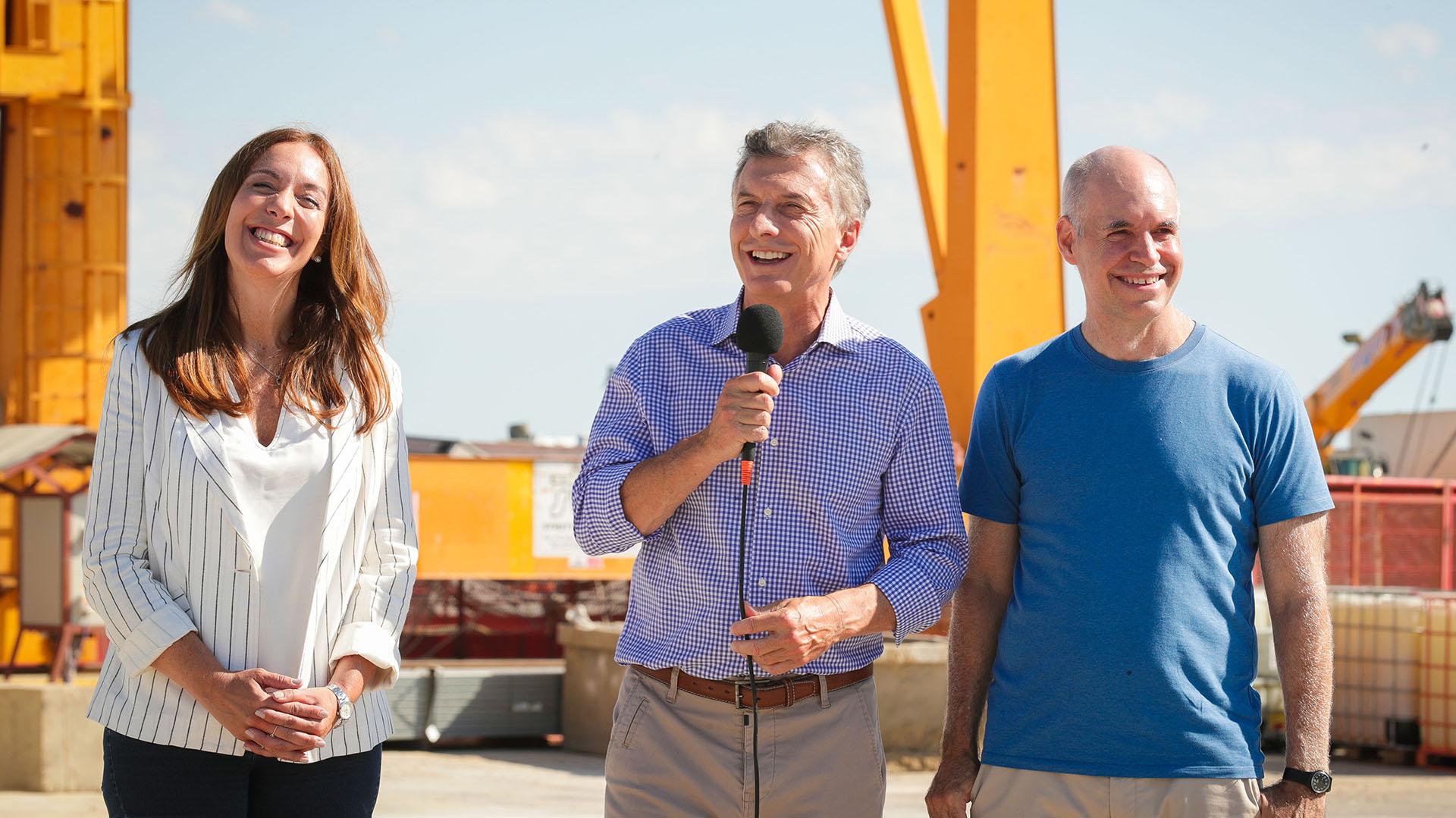 Vidal, Macri y Larreta, los tres candidatos de Cambiemos que buscarán la reelección(Prensa Presidencia)