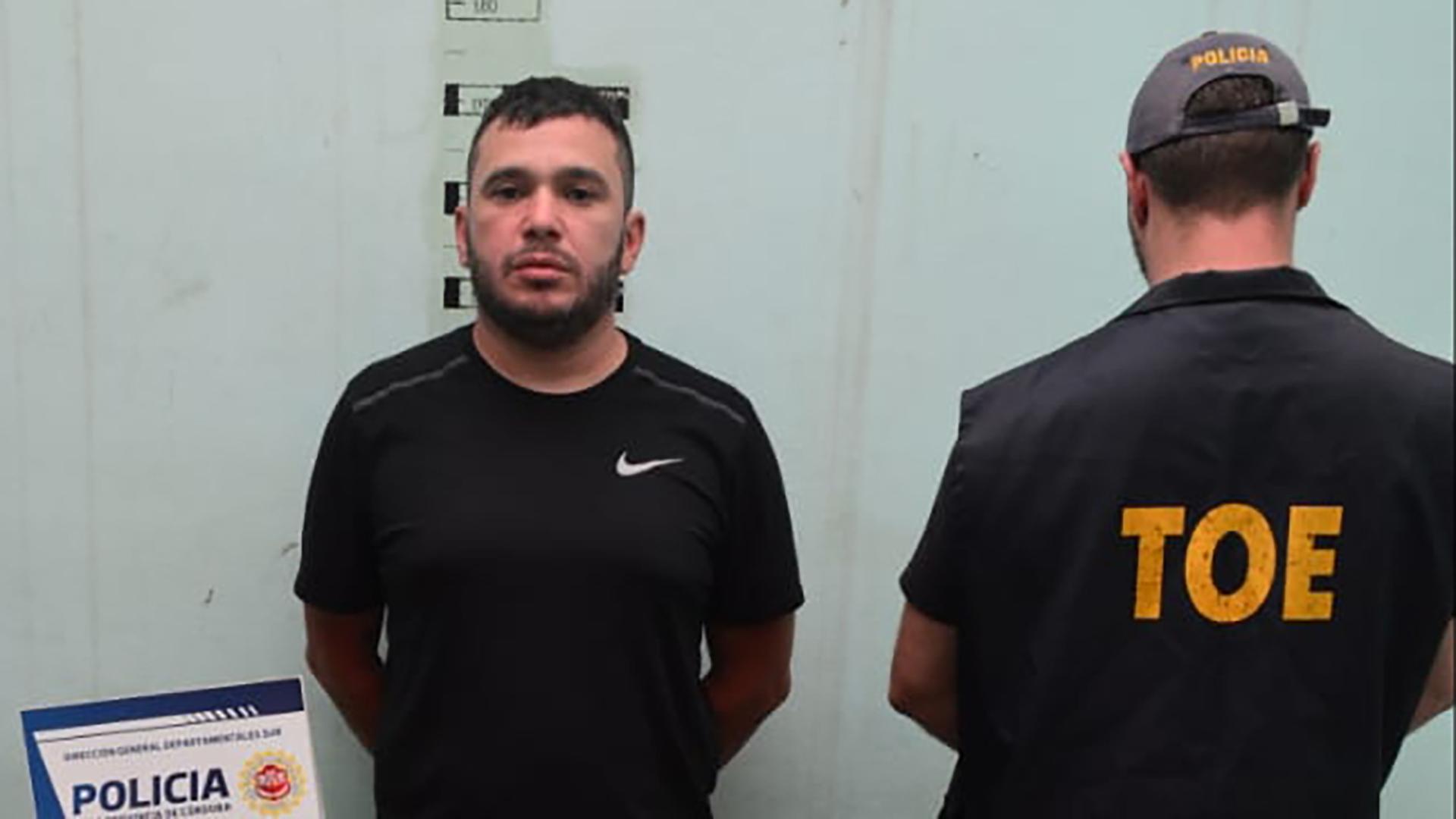 Lindor Alvarado en su última detención.