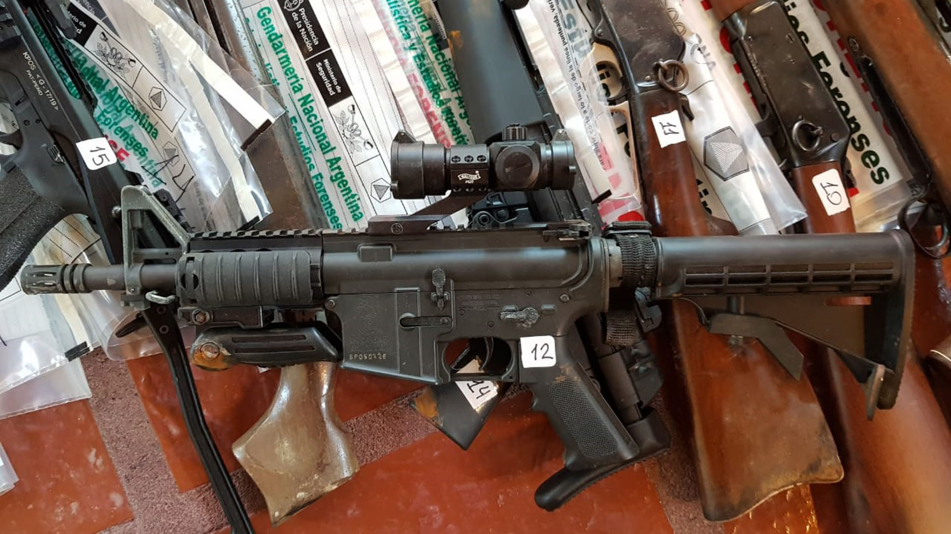 En la casa hallaron 137 armas. Yebra tiene registrada 119